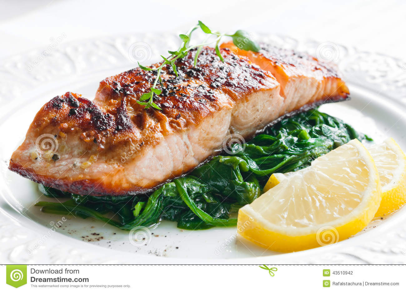 三文鱼用菠菜