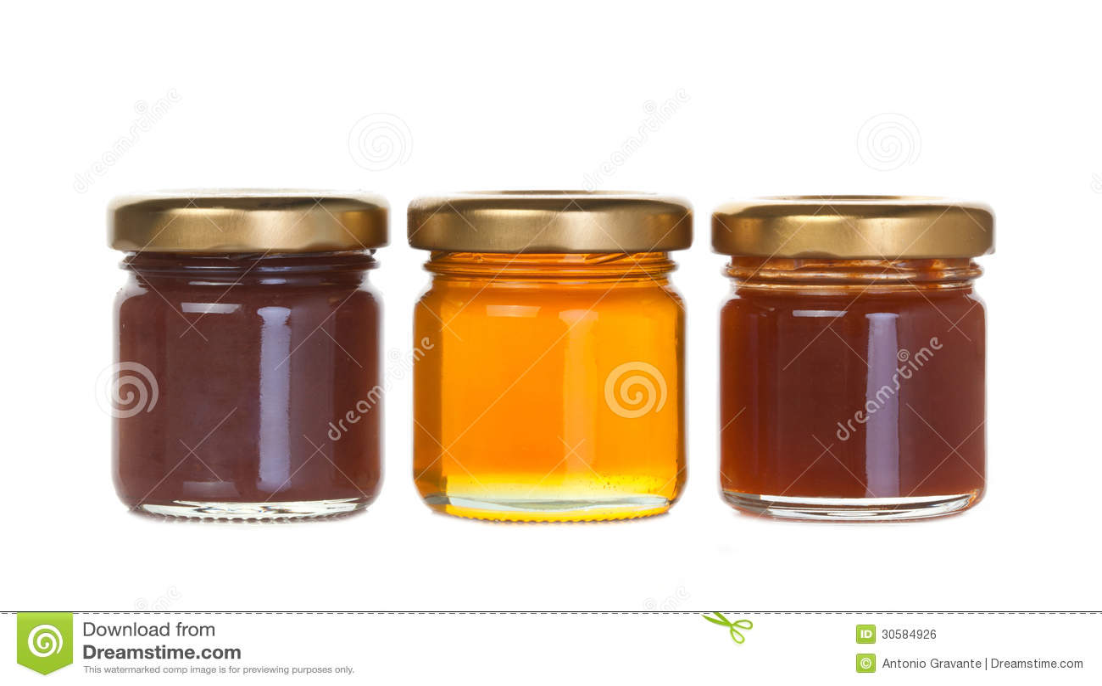 三瓶子果酱和蜂蜜
