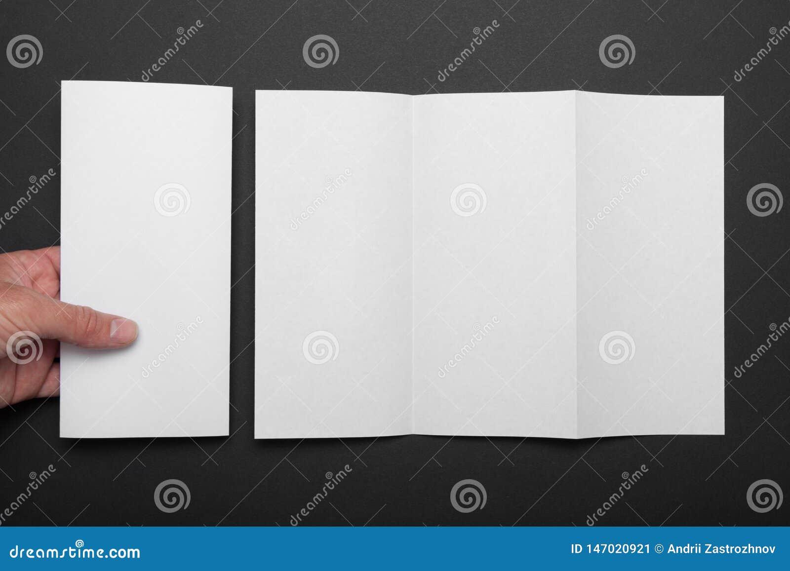 三部合成的小册子大模型,空白的DL飞行物折叠