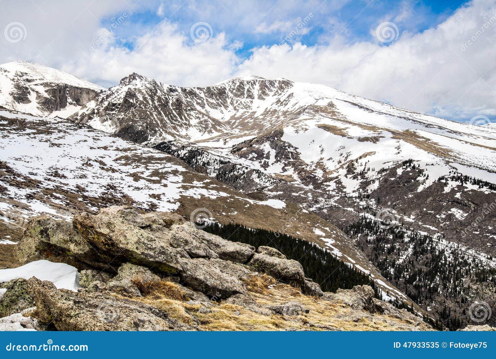 登上伊万斯山顶-科罗拉多