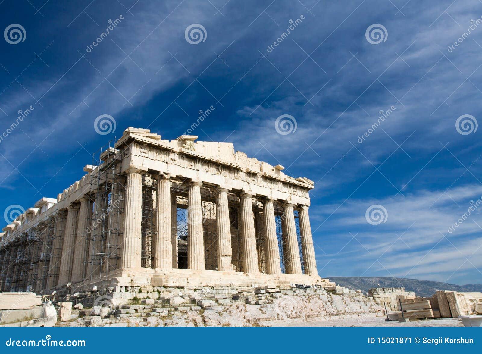 上城古老雅典bl希腊帕台农神庙