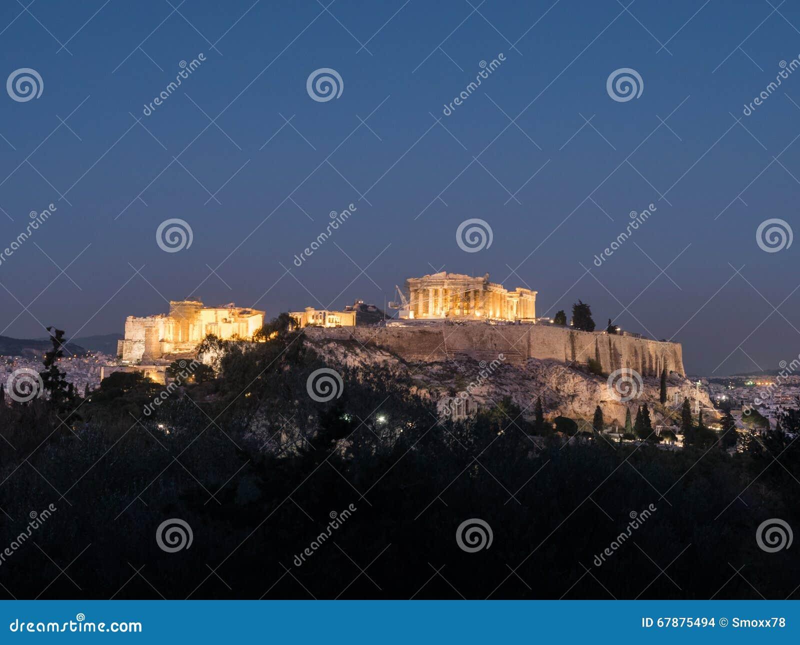 上城小山在雅典希腊