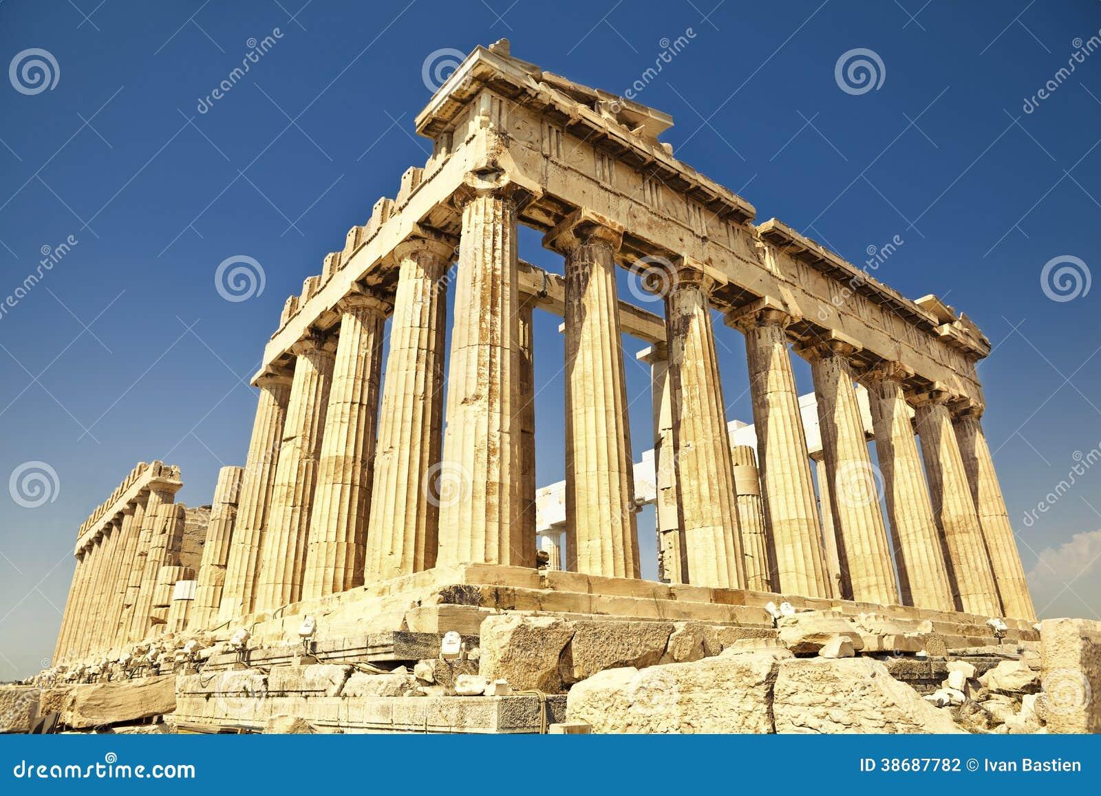 上城的帕台农神庙在雅典,希腊
