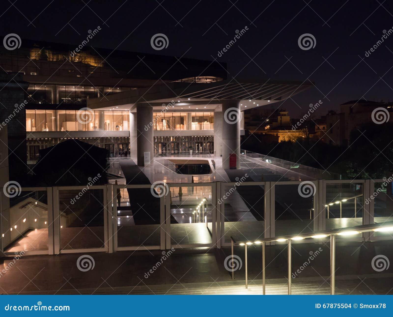 上城雅典博物馆右侧视图