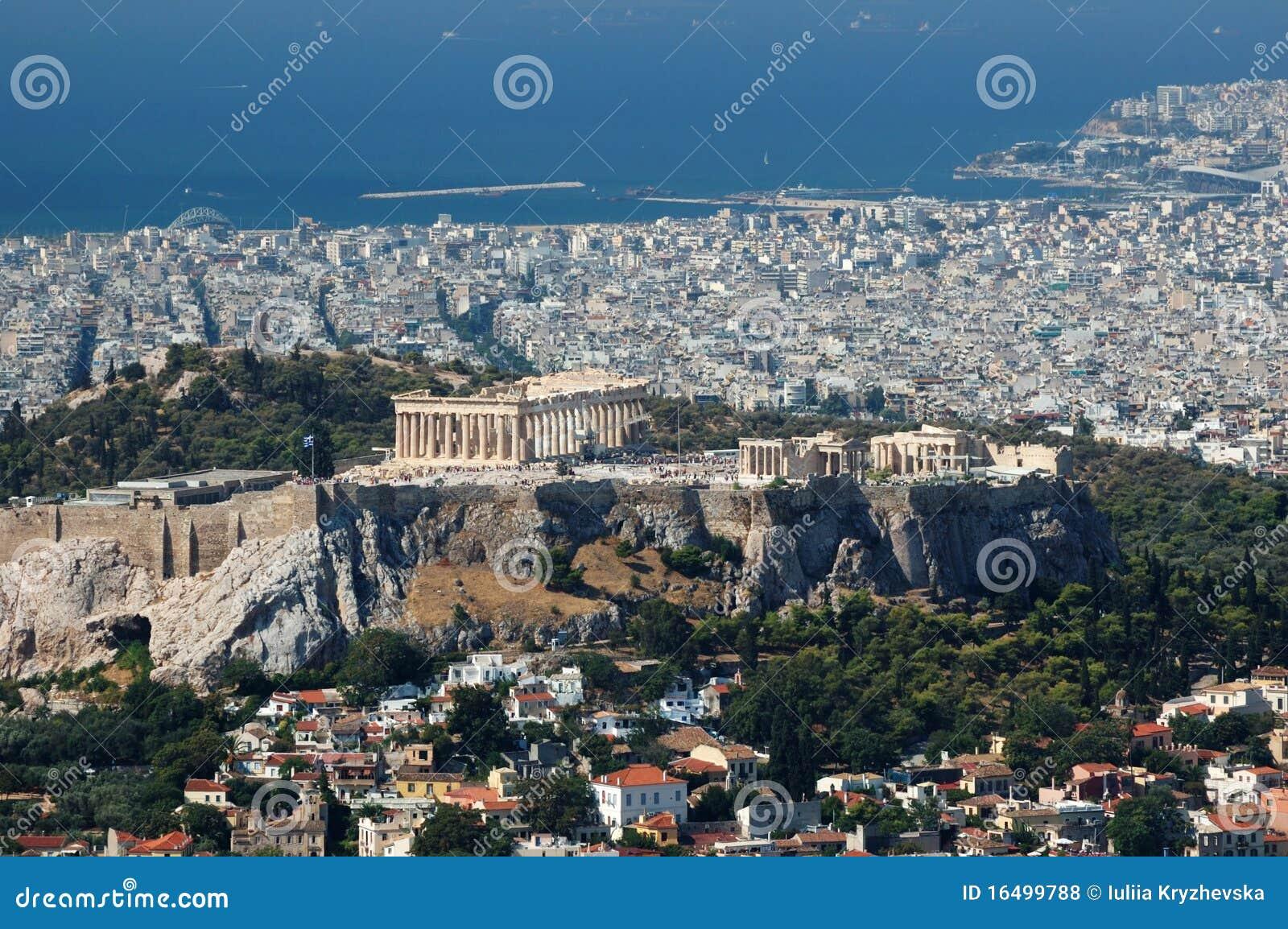 上城雅典小山lykavittos视图