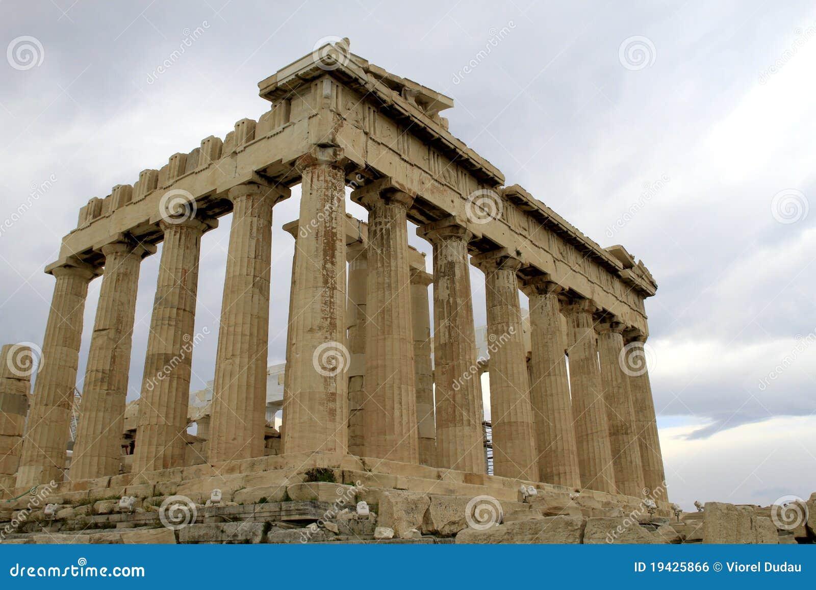 上城雅典希腊帕台农神庙
