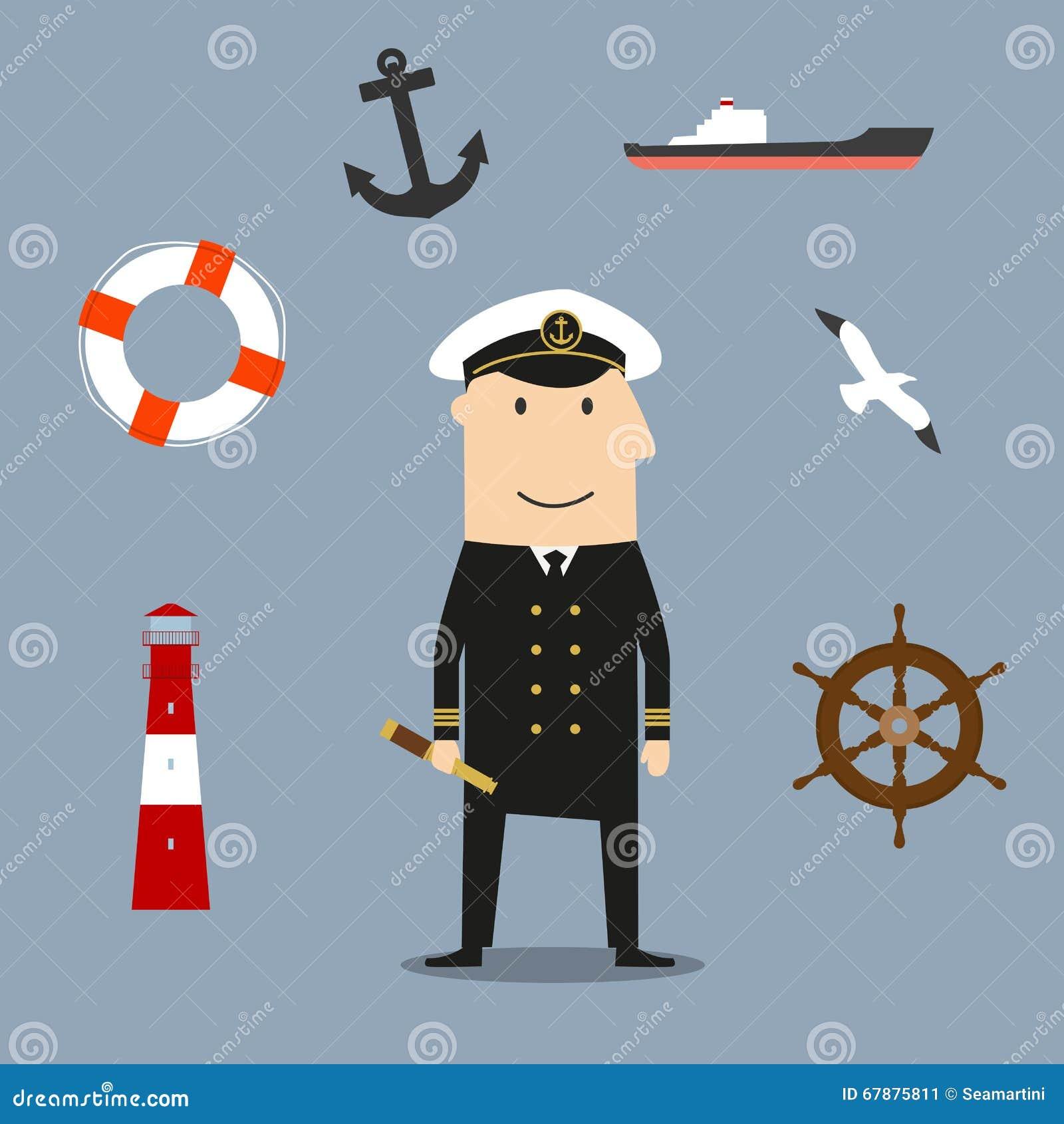 上尉行业和船舶象