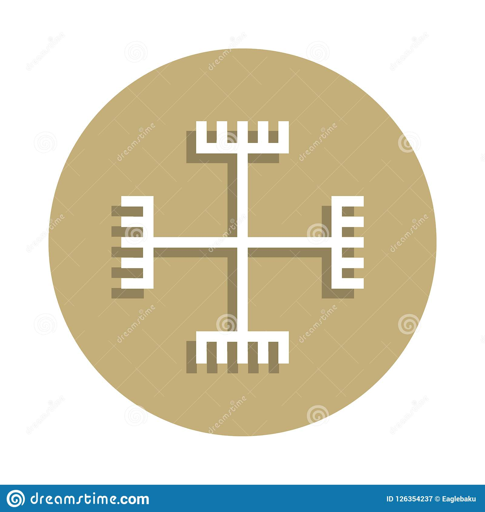 上帝的异端手签署在徽章样式的象 一宗教标志汇集象可以为UI, UX使用