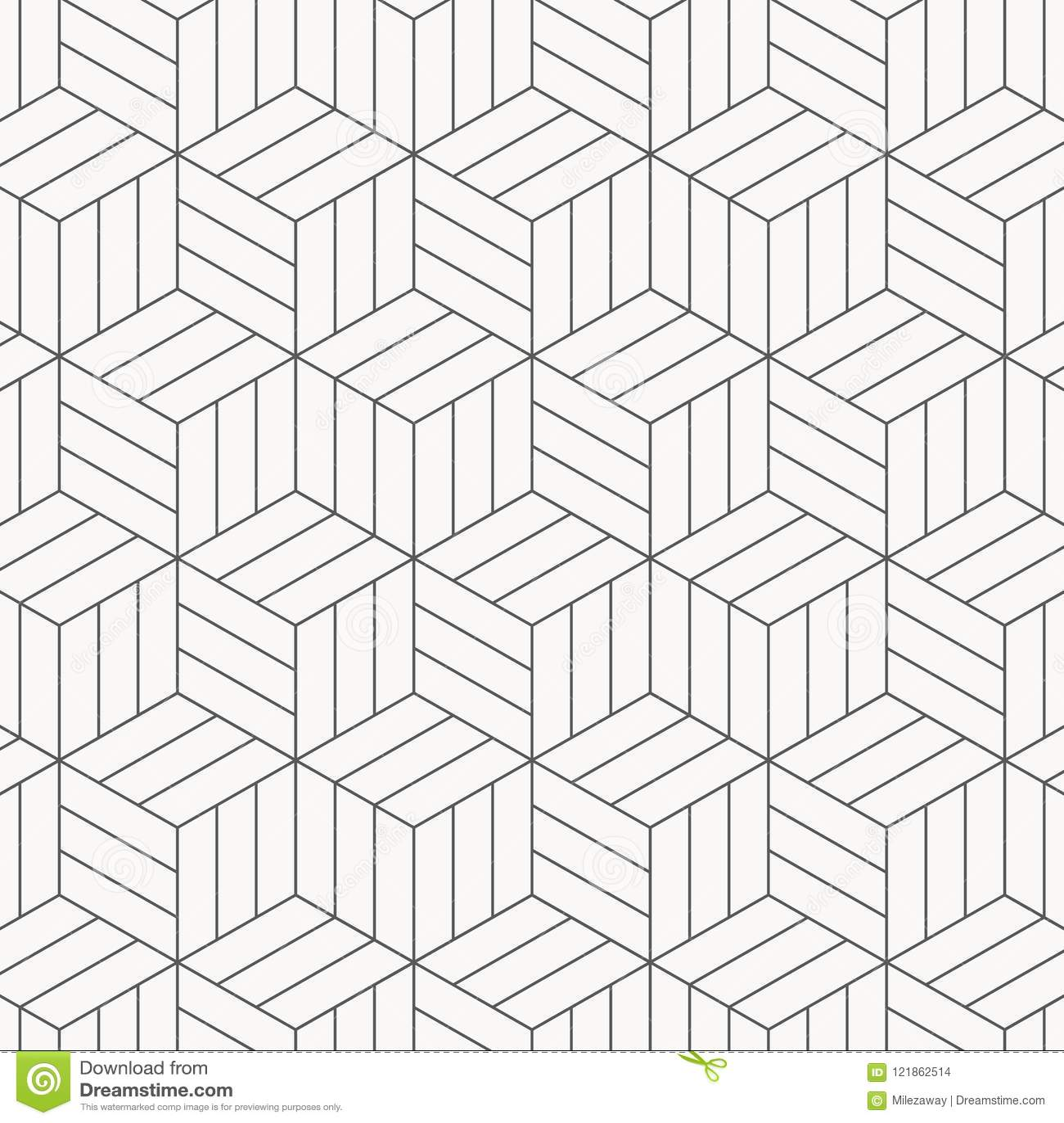 上色模式可能的变形多种向量 现代时髦的纹理 重复几何瓦片 镶边单色立方体