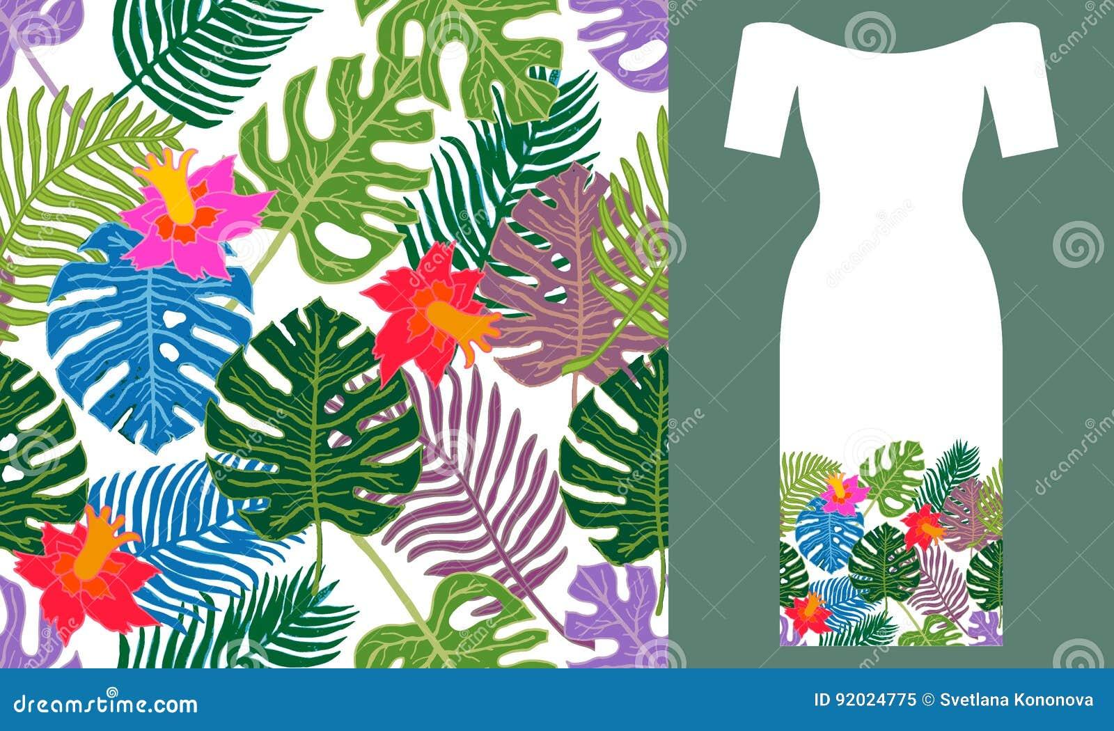上色热带 晚礼服设计