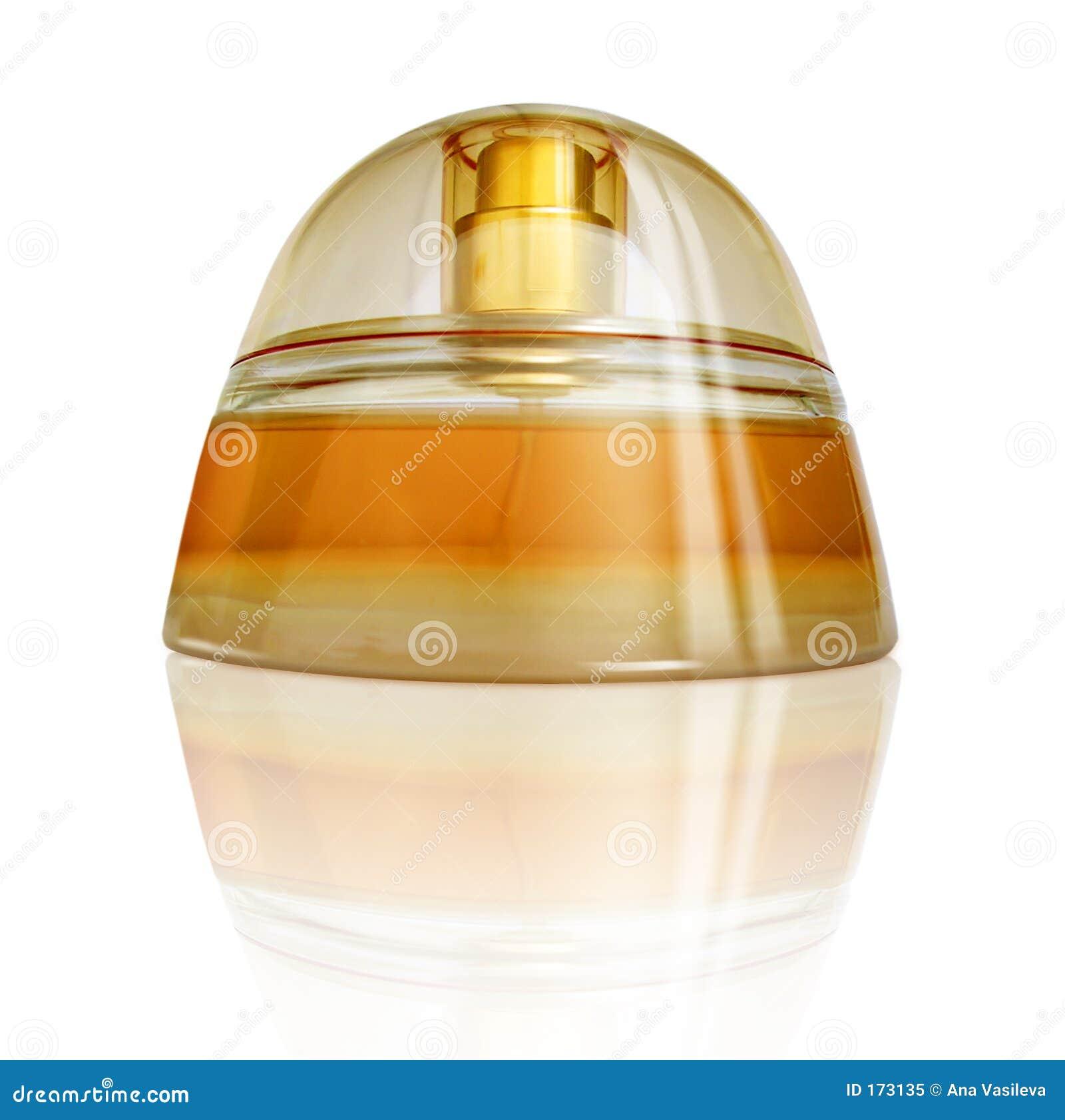 上色豪华橙色香水反映黄色