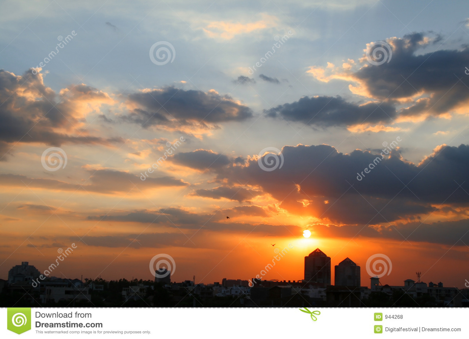 上色gurgaon haryana印度日出日落生动