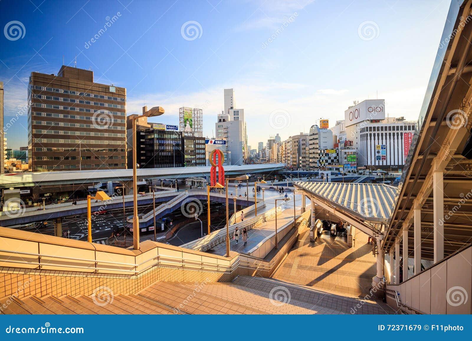 上野从上野火车站的区视图