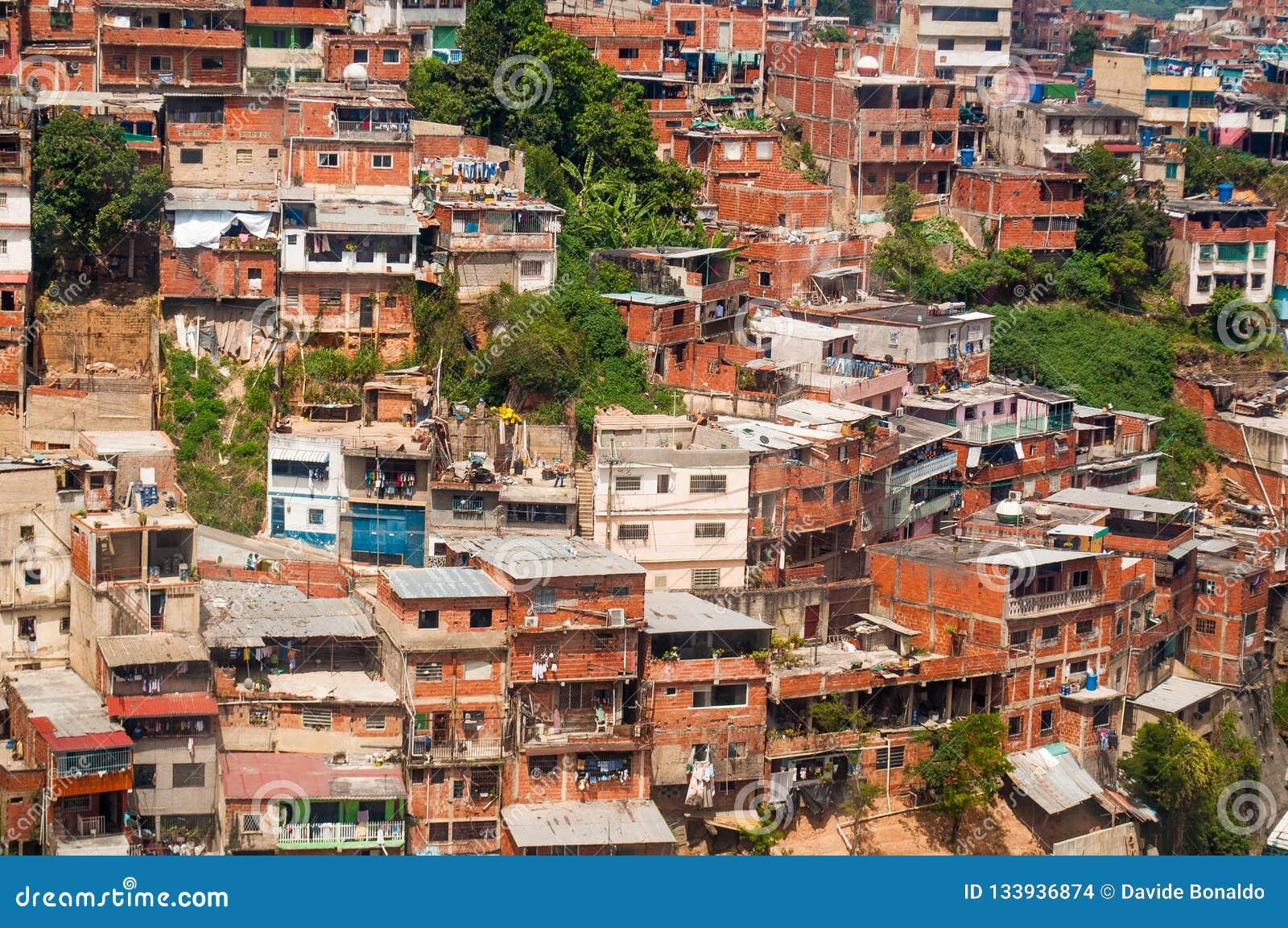 上面棚户区和贫民窟看法关闭与白天在南美城市