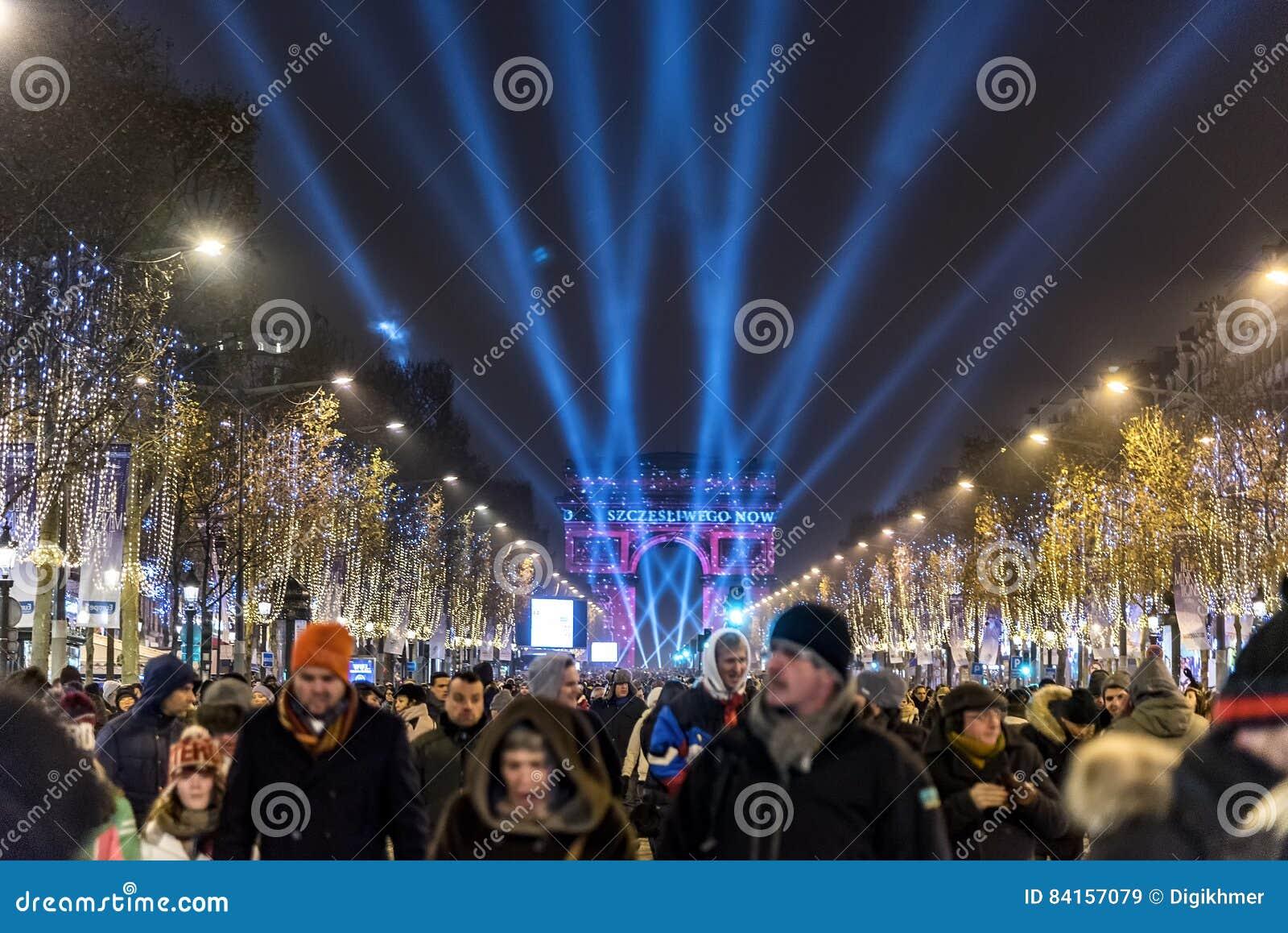 巴黎下来新年计数