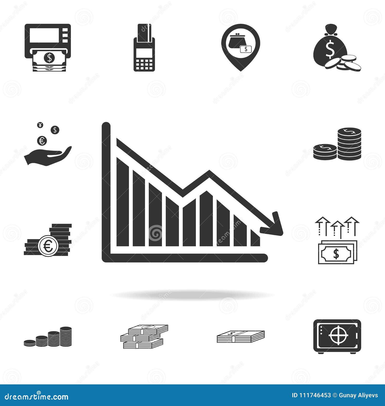 下来日程表,衰落秋天图象 详细的套财务、银行业务和赢利元素象 优质质量图表des