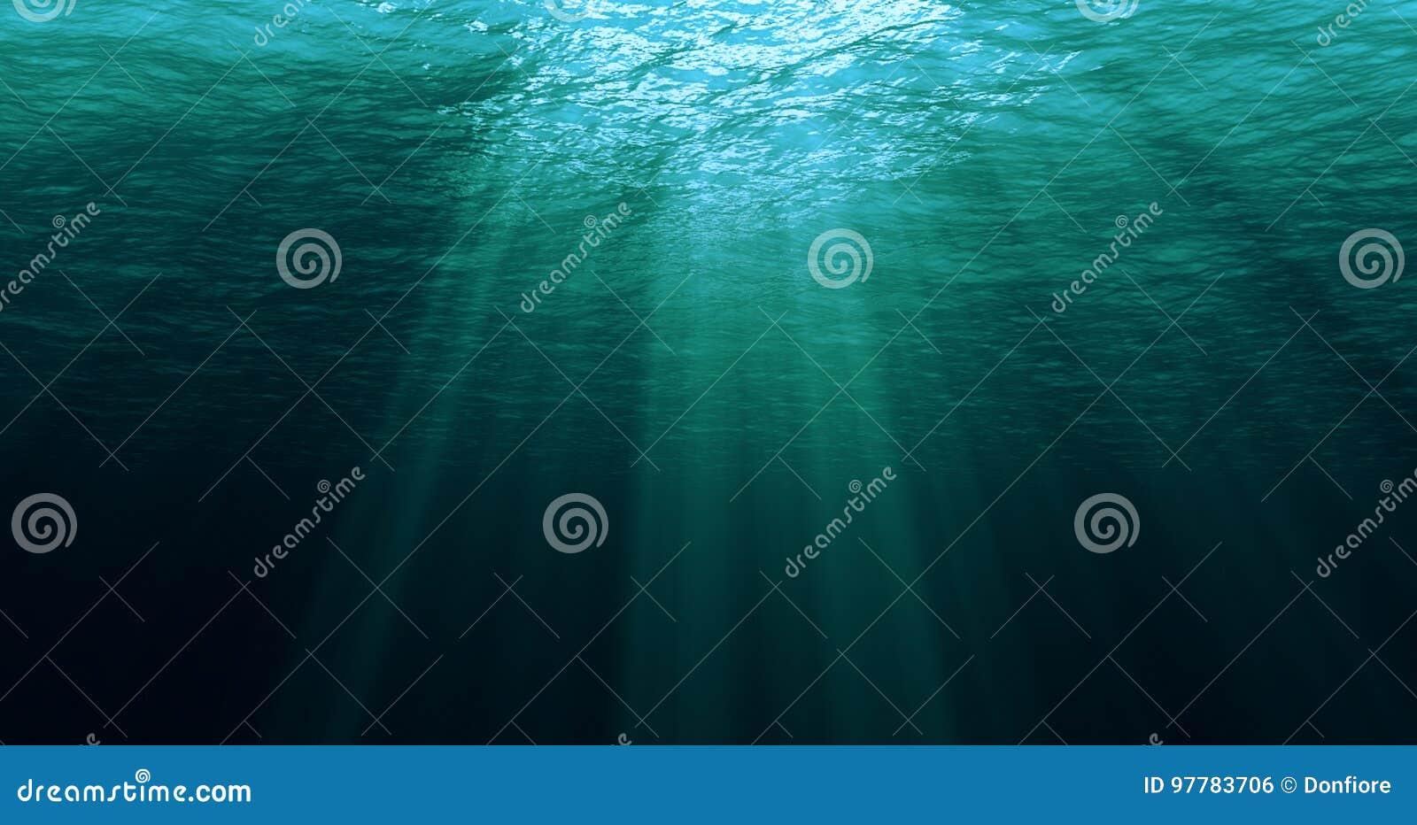 从水下的背景的深蓝色加勒比海浪