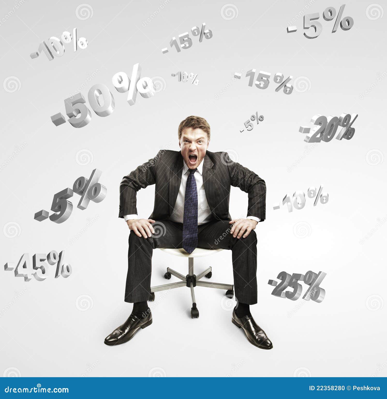 下跌的人百分比呼喊的坐下