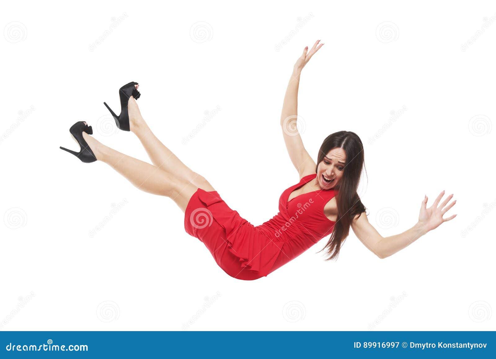 下跌的女性看下来