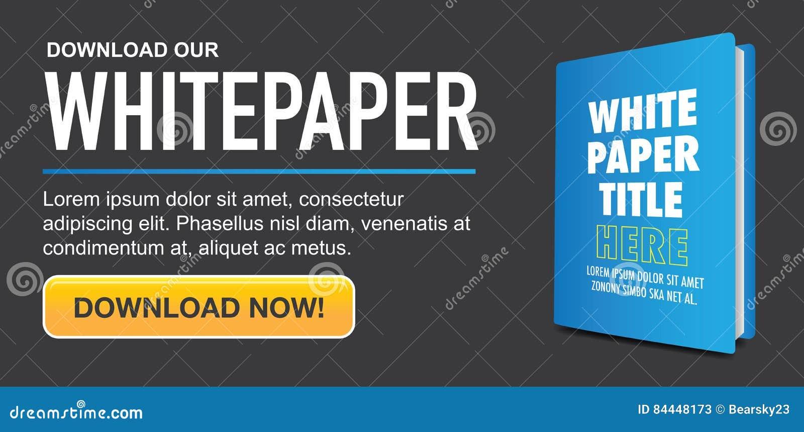 下载与可替换的标题、盖子和CTA的Whitepaper或Ebook图表