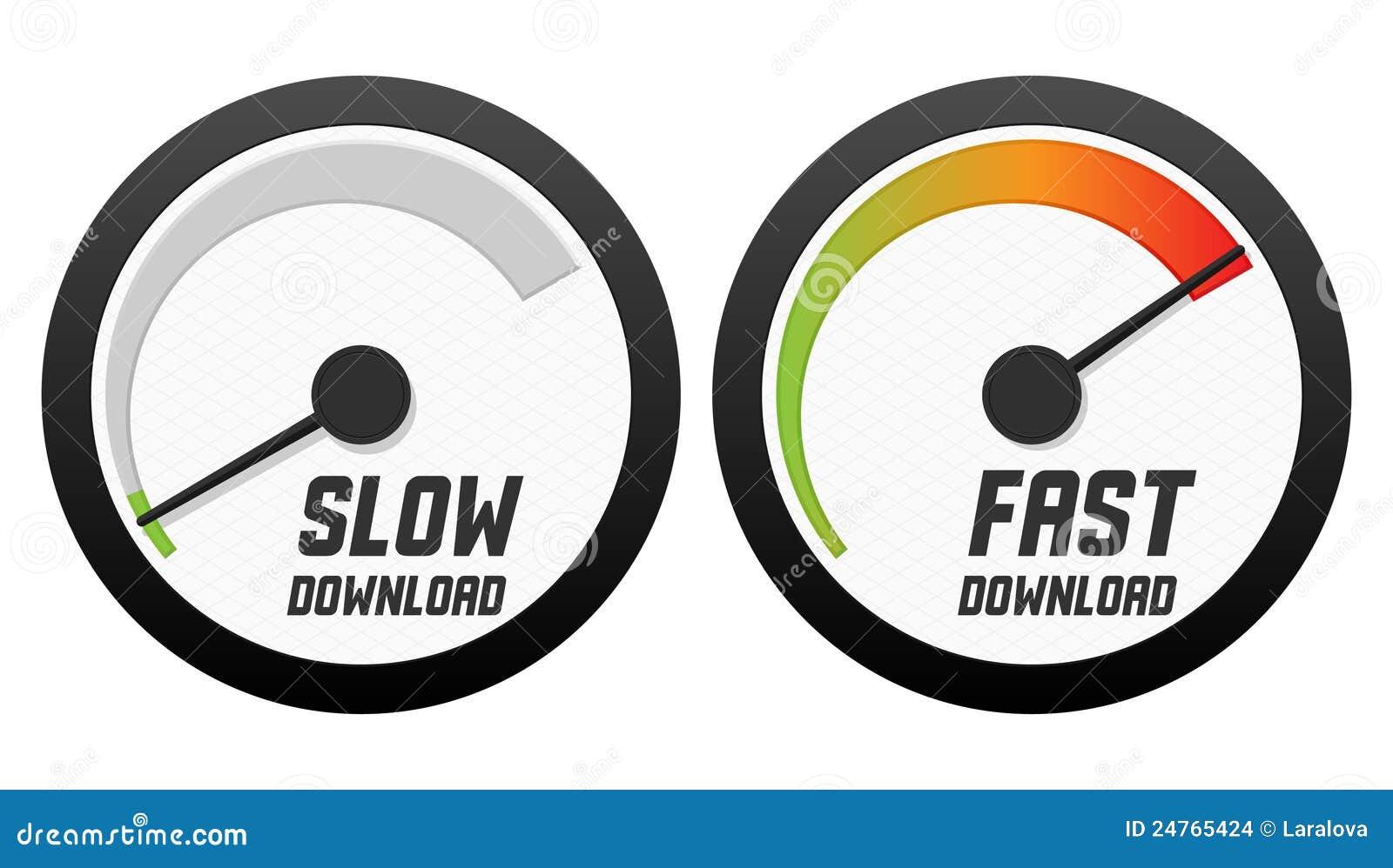 下载快速慢的车速表