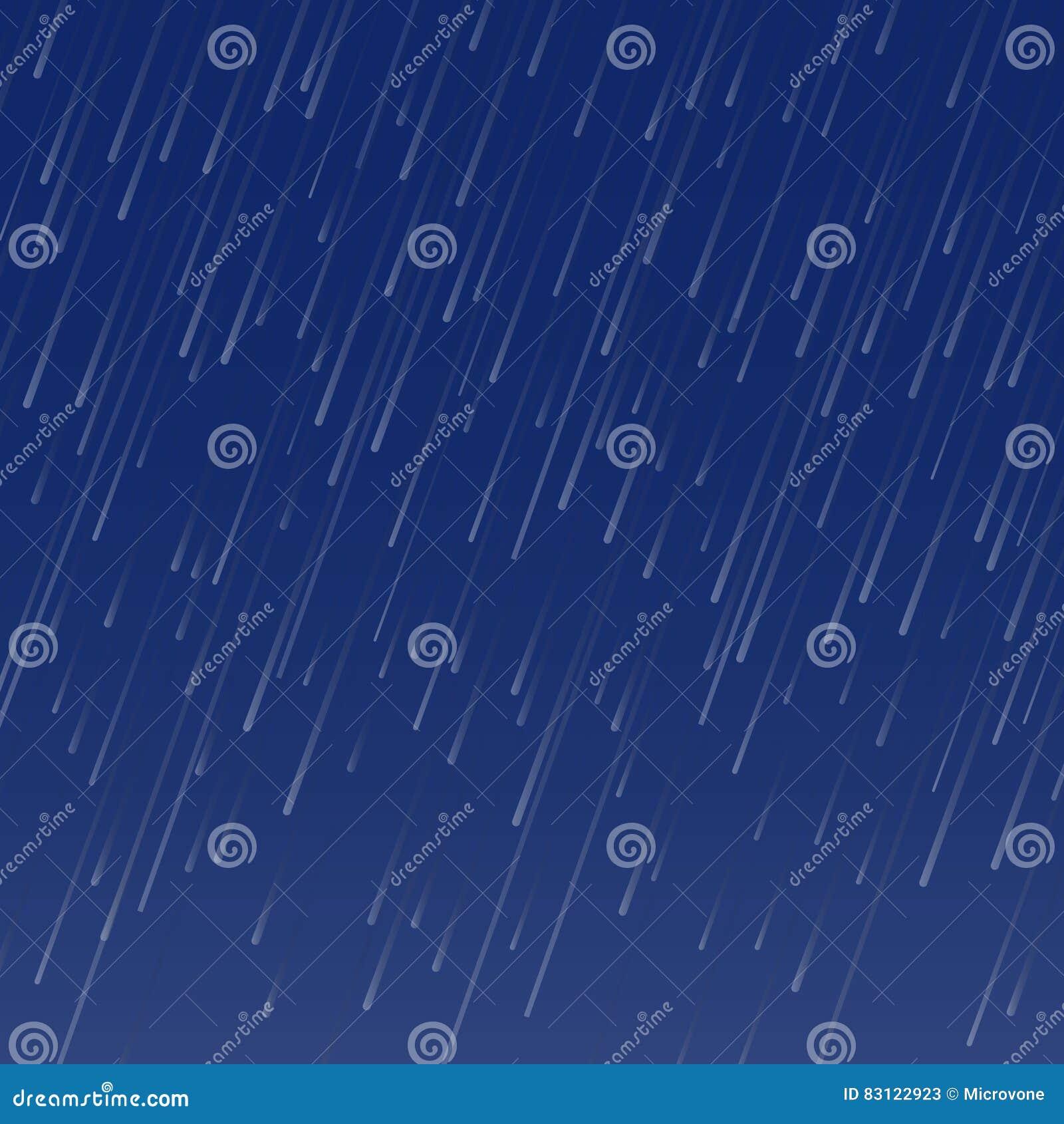 下雨秋天天气无缝的样式的传染媒介