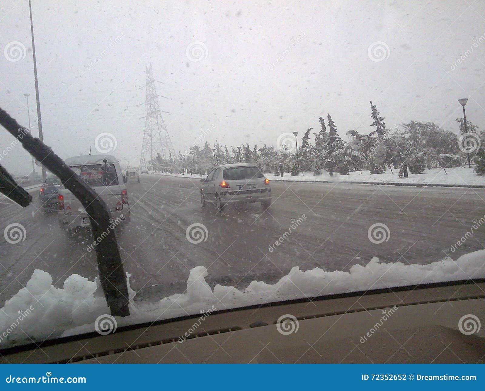 下雪在叙利亚