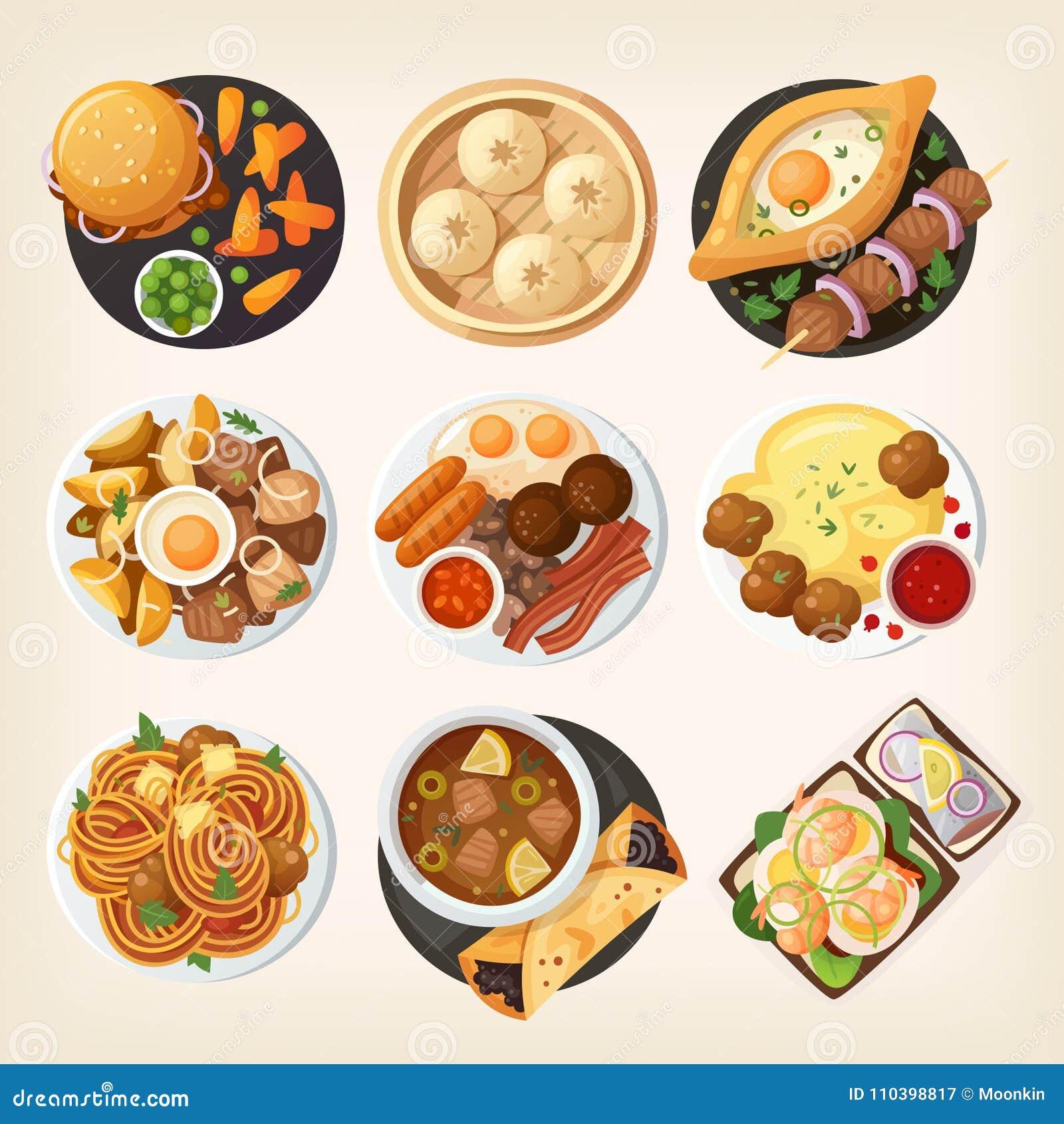 不同的世界国家传统晚餐