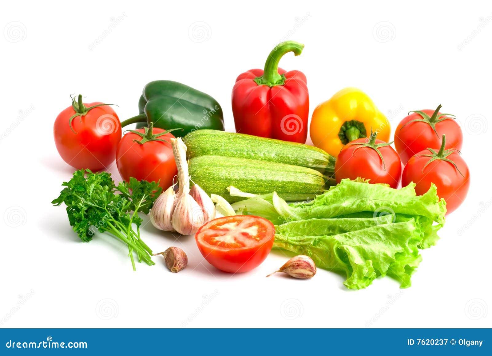 不同的新鲜的组蔬菜