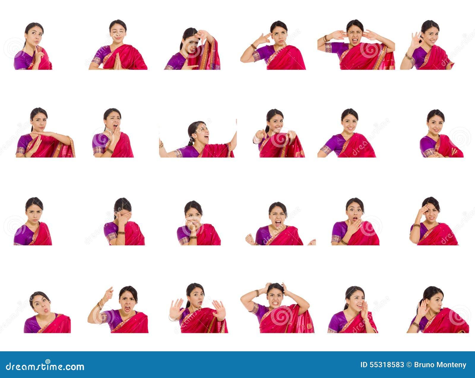 库存照片: 不同的表情拼贴画图片
