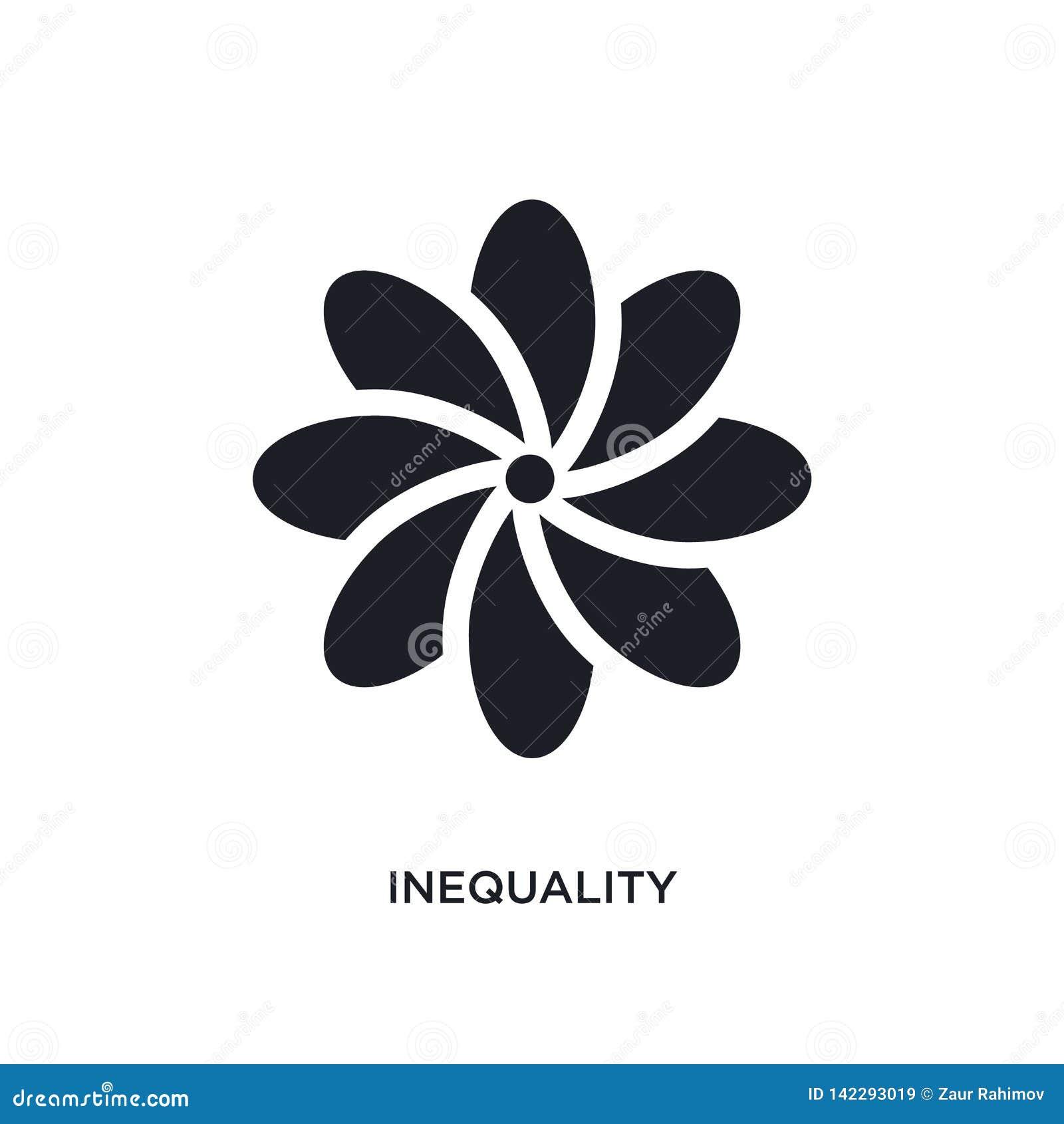不平等被隔绝的象 从黄道带概念象的简单的元素例证 不平等编辑可能的商标标志标志设计