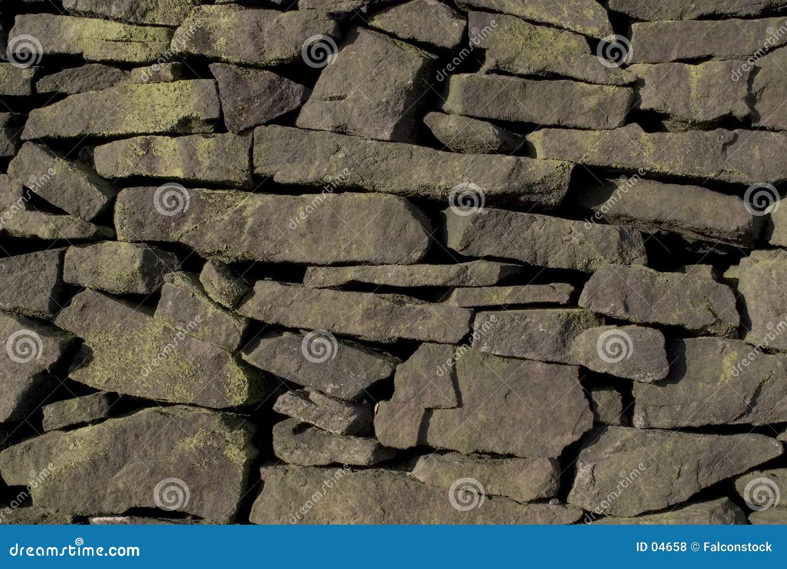 不用灰泥只用石块构造的gritstone墙壁