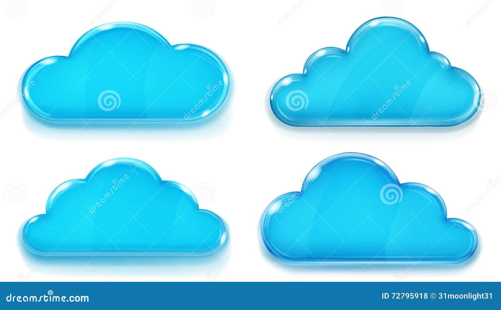 不透明的蓝色玻璃云彩
