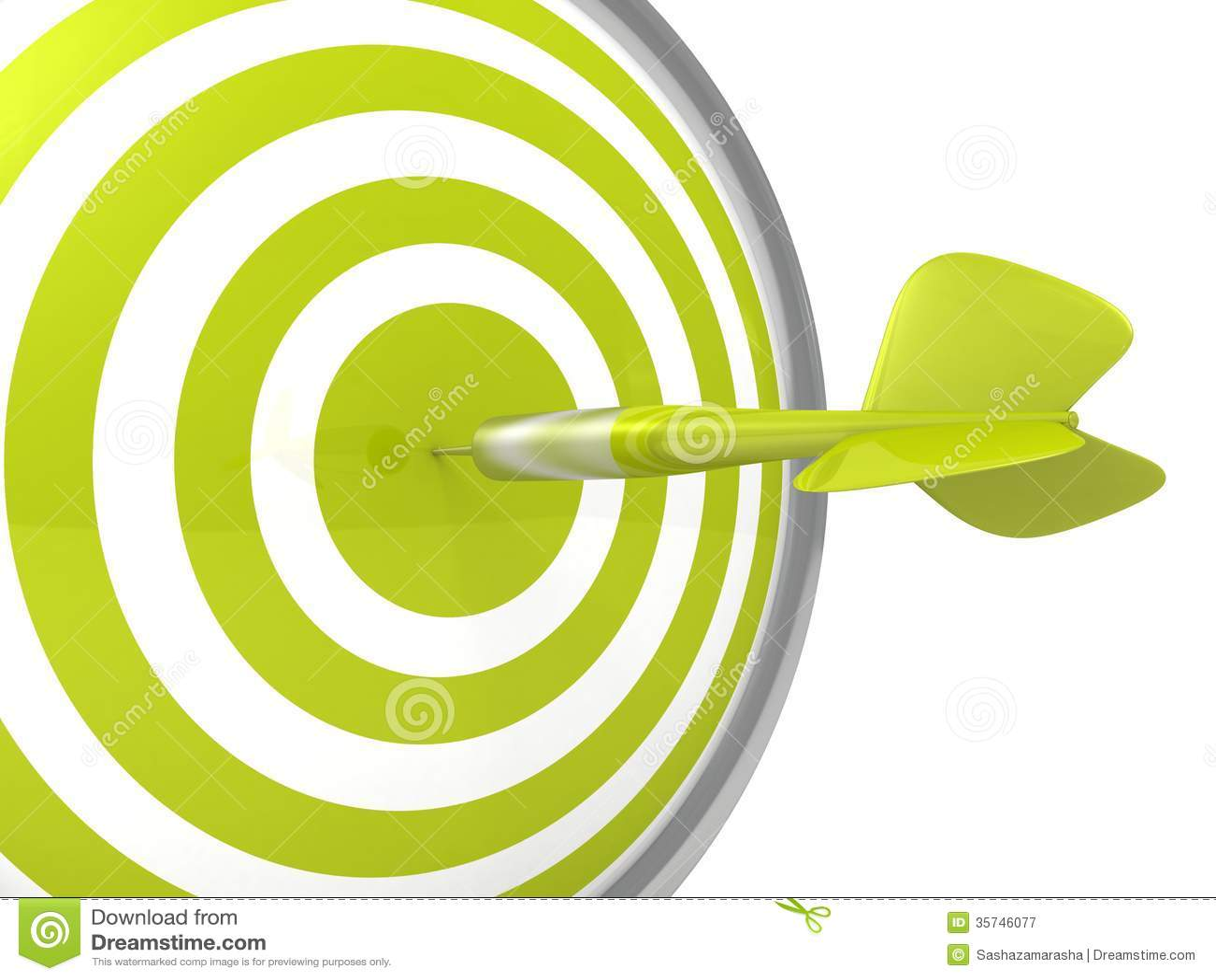 与一个箭头的概念性绿色箭目标板在中心
