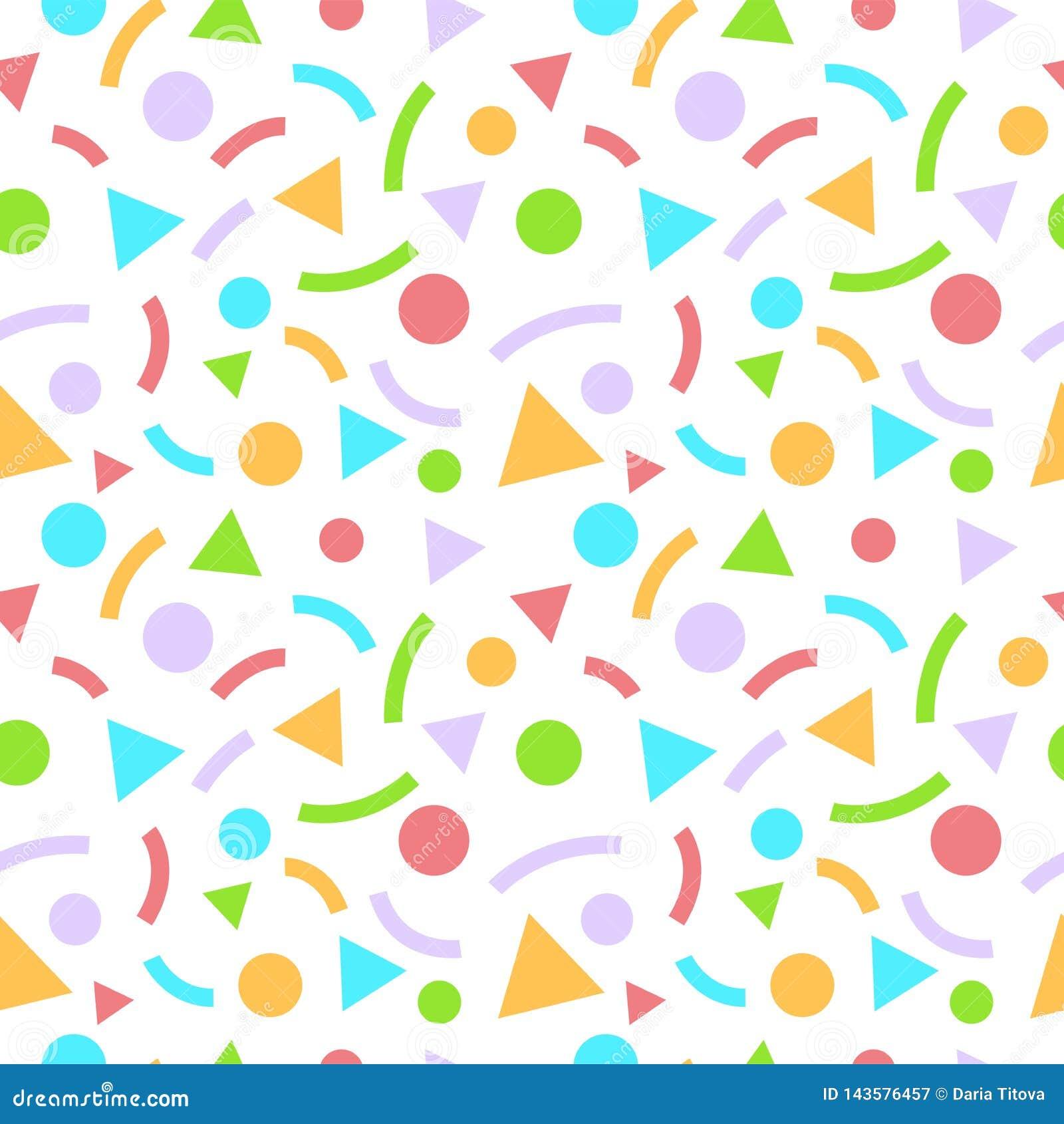 与三角和圈子的摘要几何无缝的样式