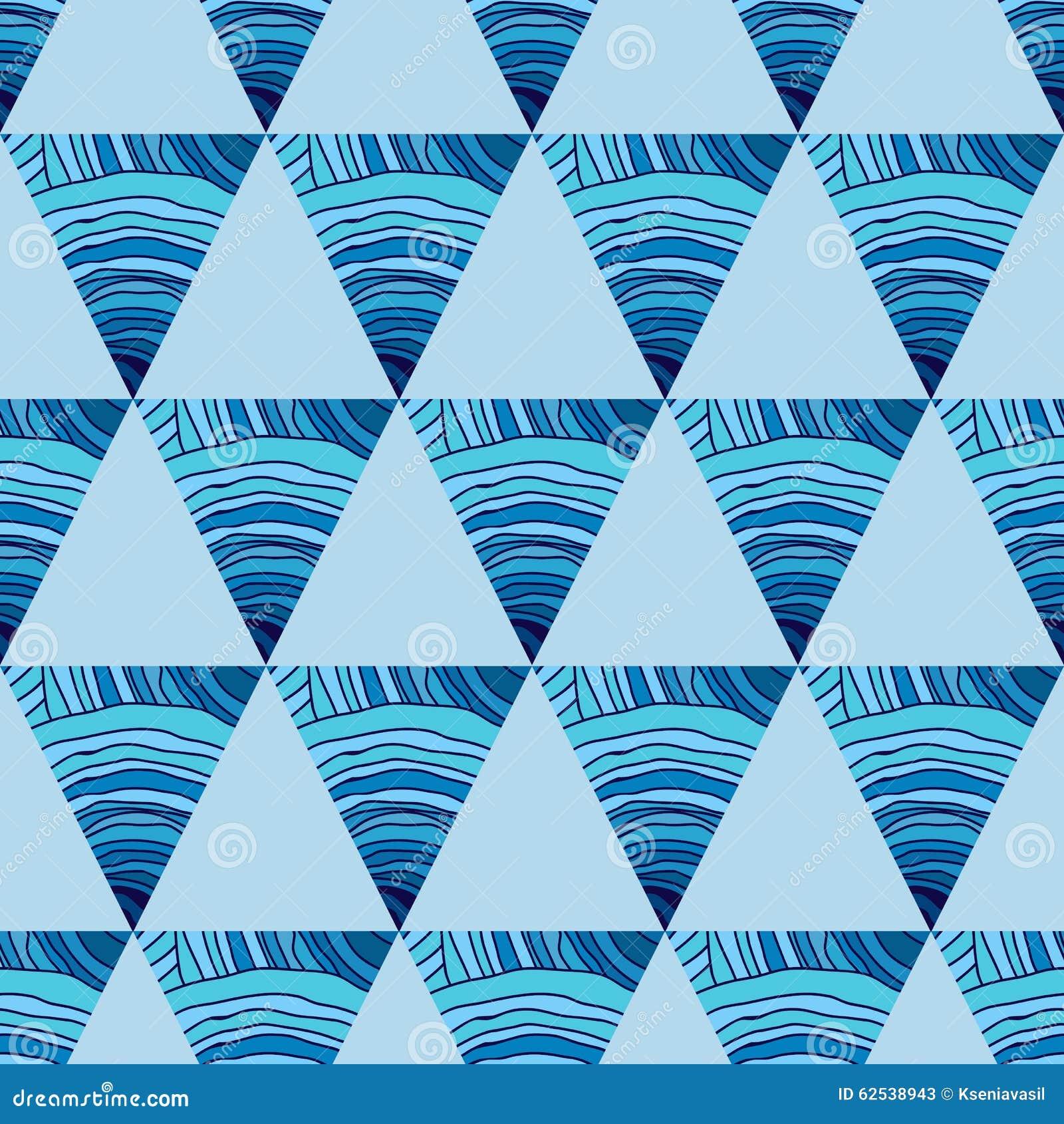 与三角的抽象无缝的样式
