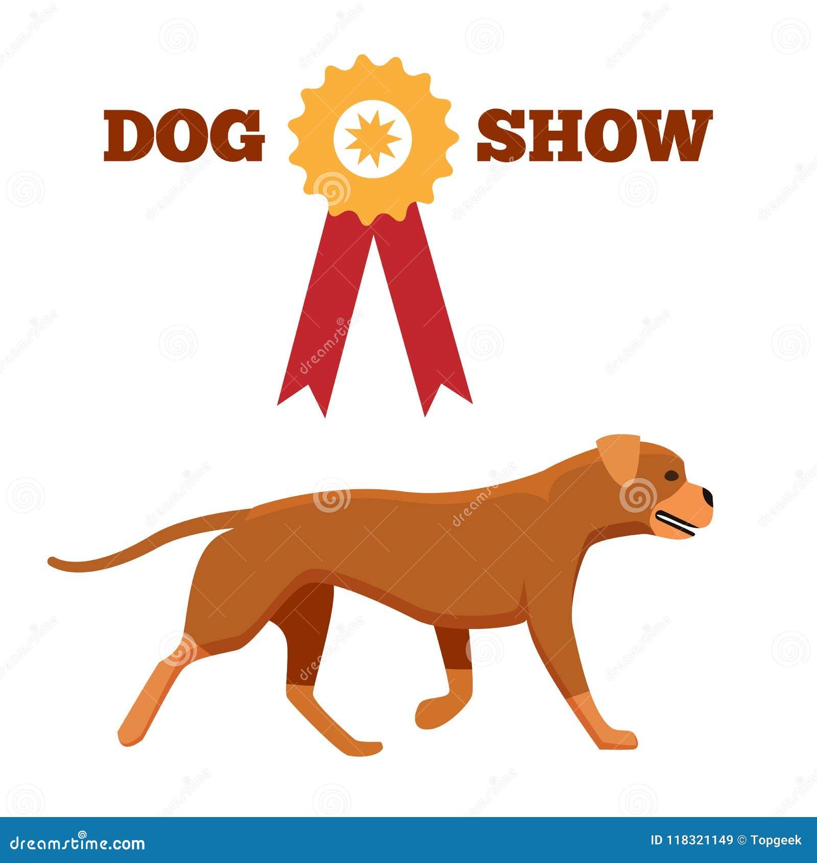 与丝带似犬动物设计的狗展示奖