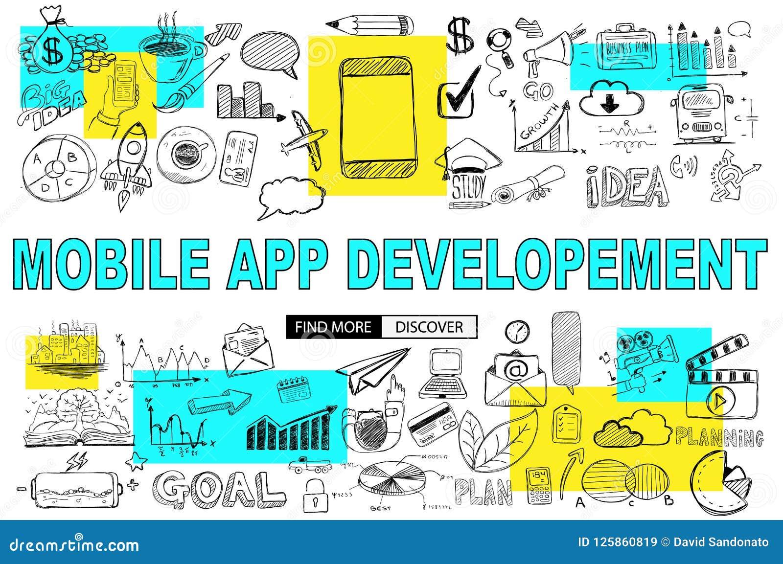 与乱画设计样式的流动App发展:到达更多c