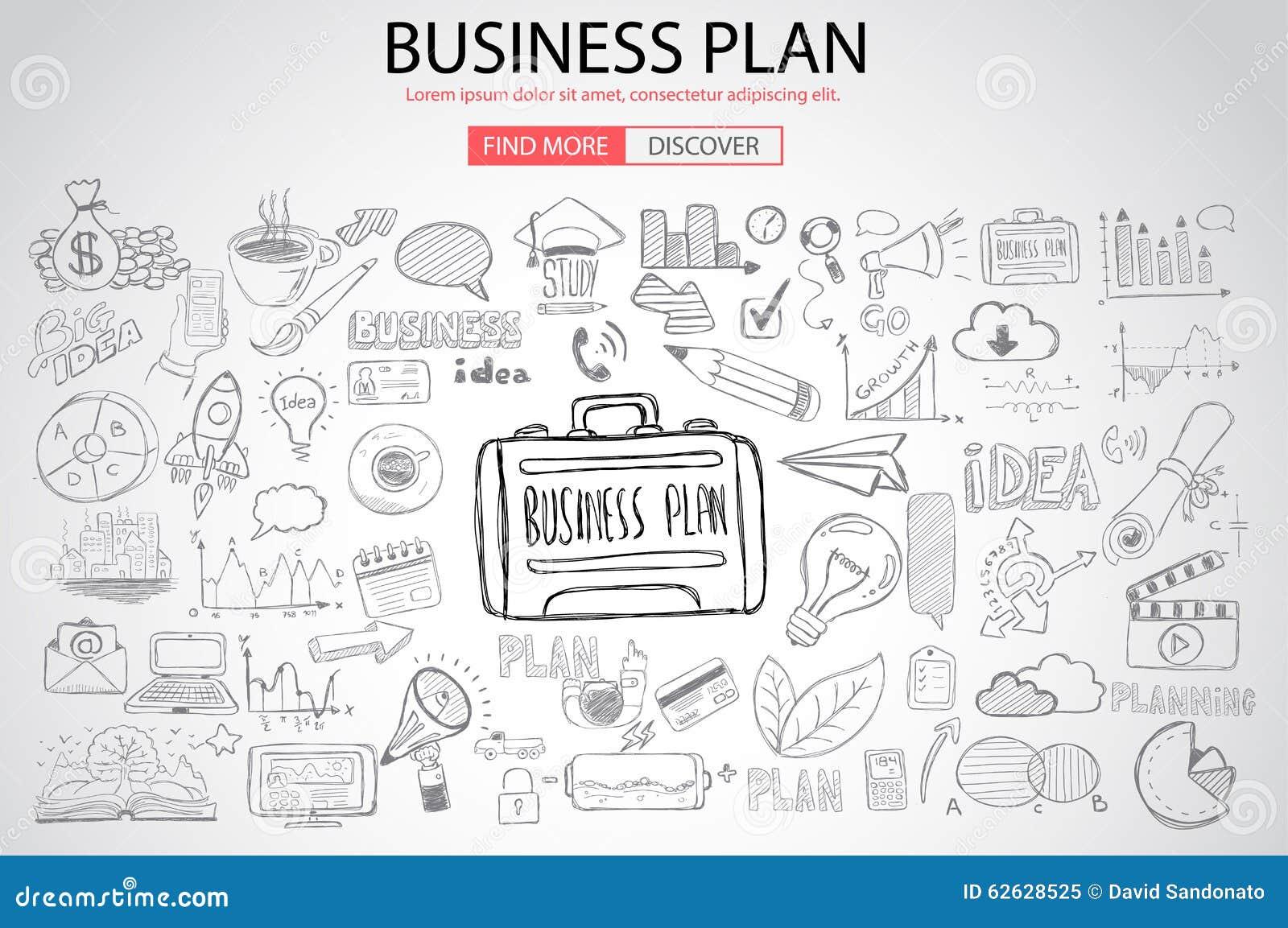 与乱画设计样式的企业规划概念