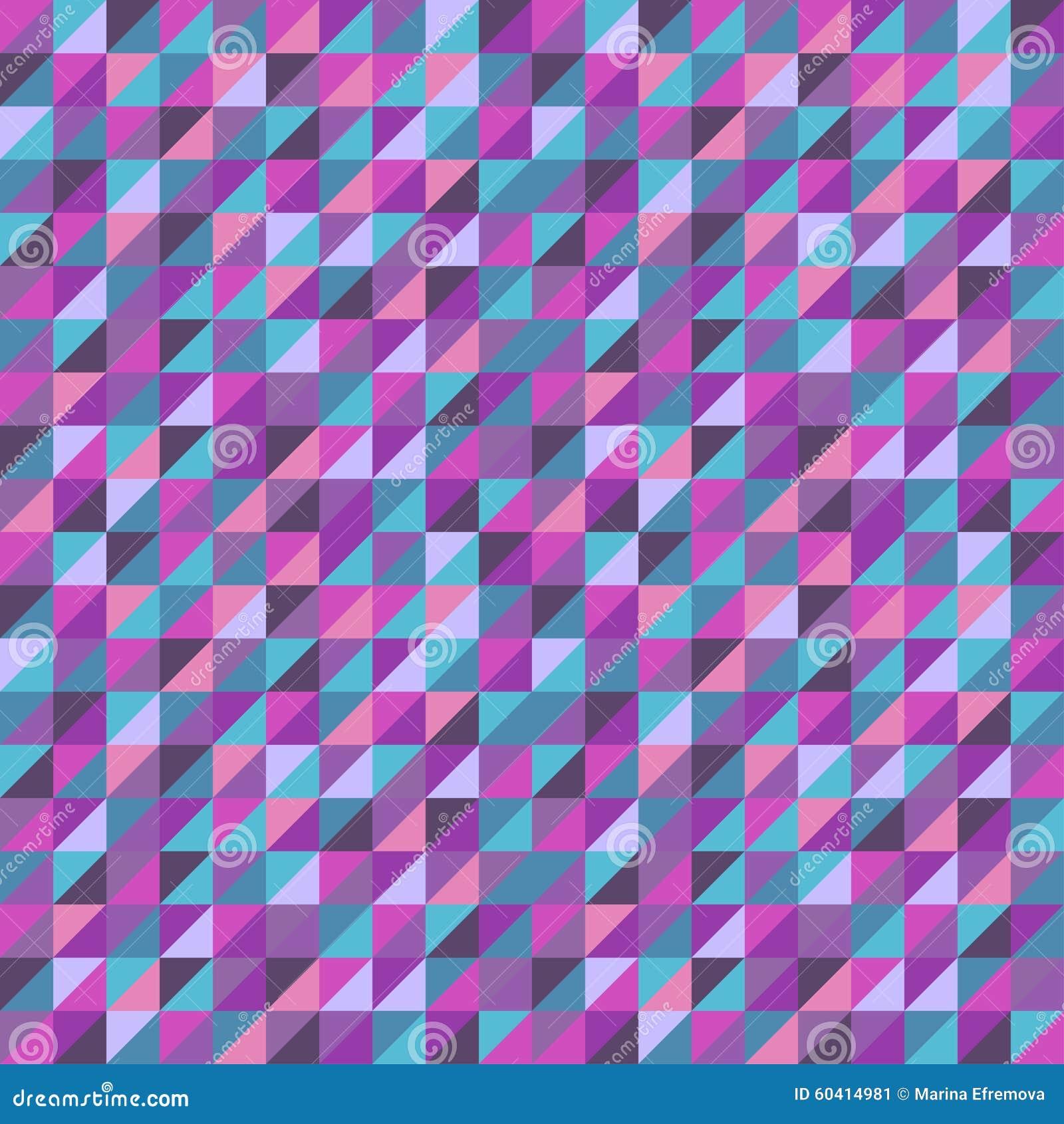 与五颜六色的三角的抽象无缝的背景 也corel凹道例证向量
