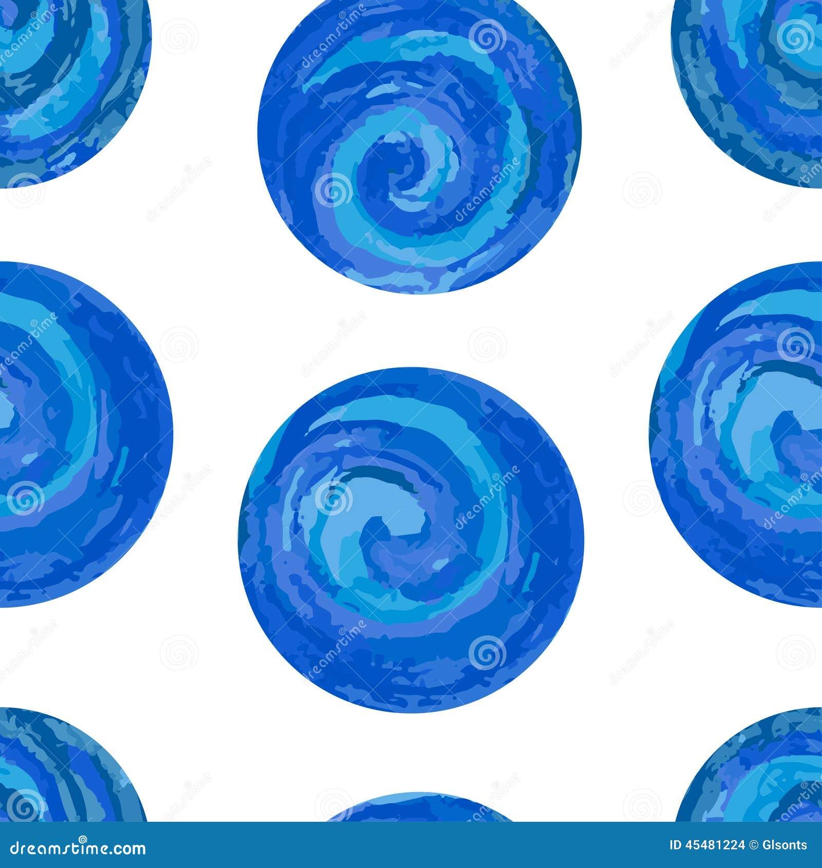 与五颜六色的圈子的无缝的样式在白色背景 EPS, JPG