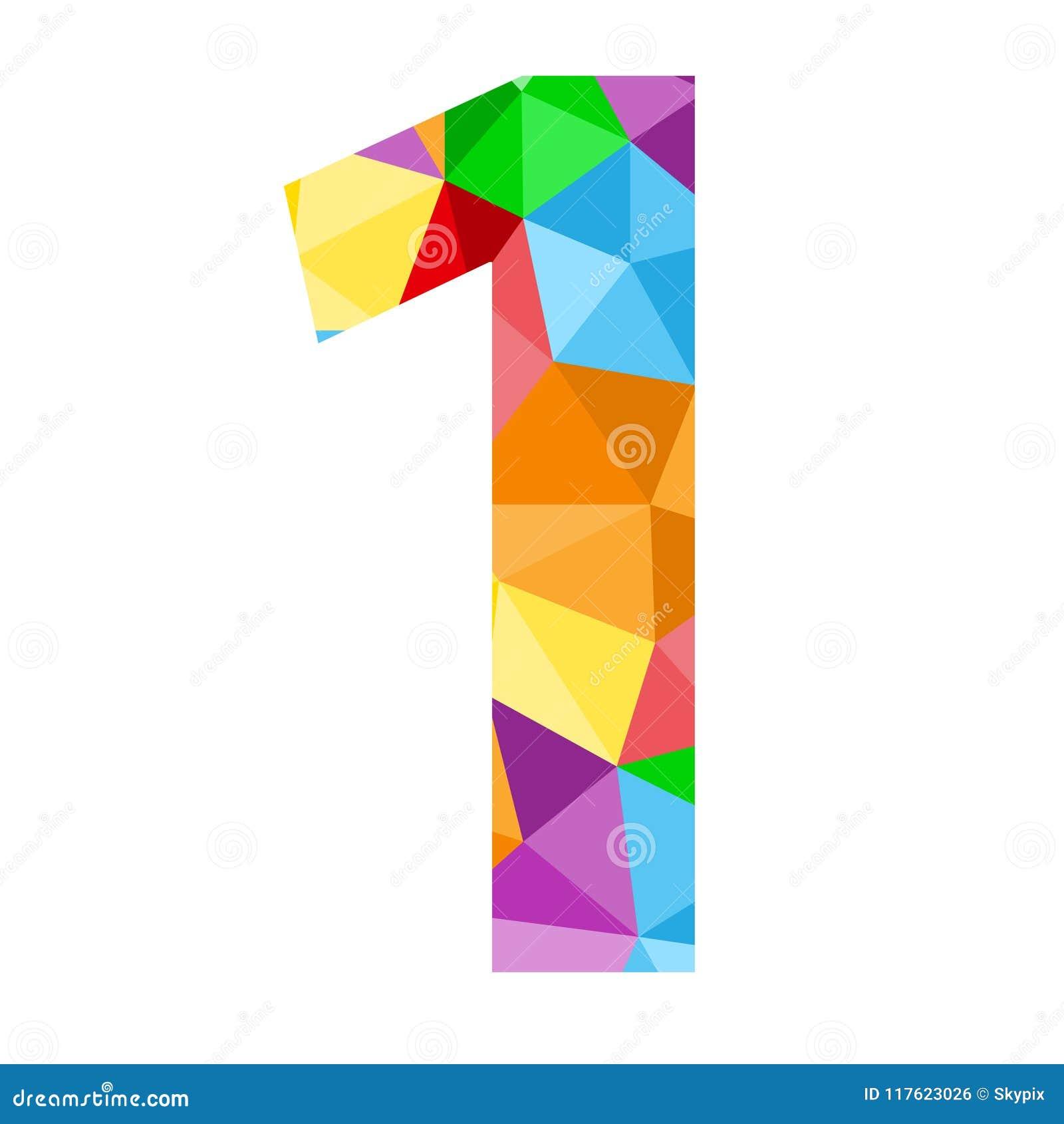 与五颜六色的多角形样式的第1象