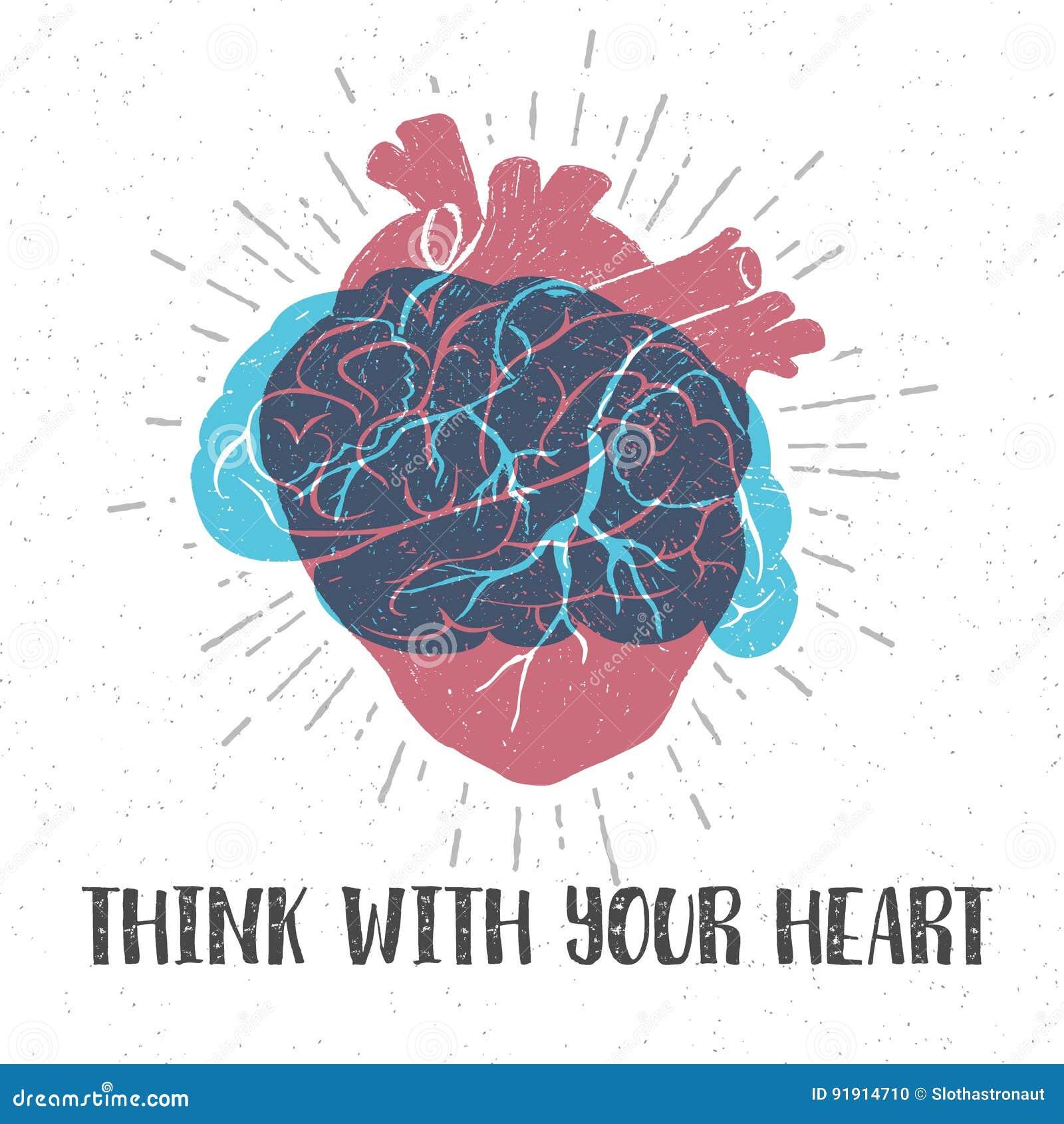 与人的心脏、脑子和字法的浪漫海报