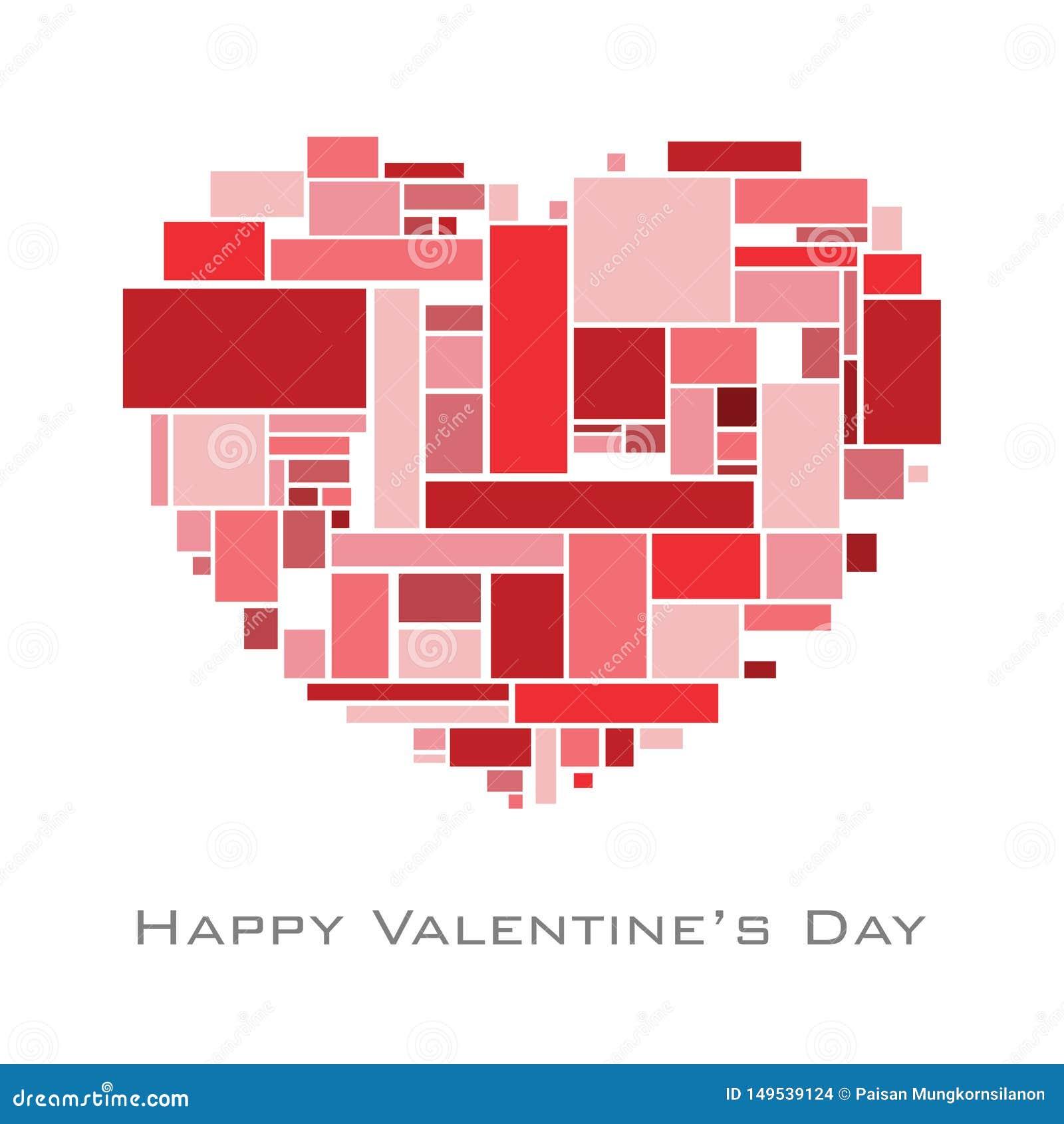 与任意长方形的心脏在红色大型书本为情人节