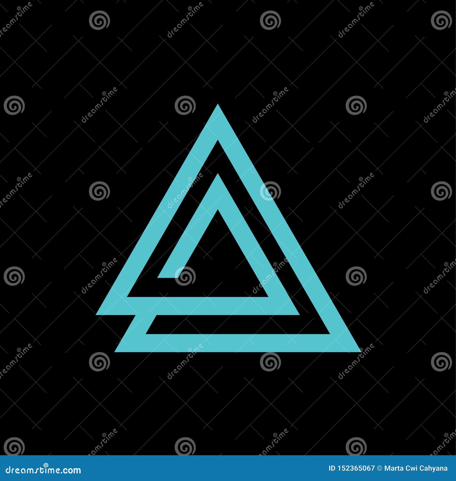 与信件的三角象商标传染媒介模板