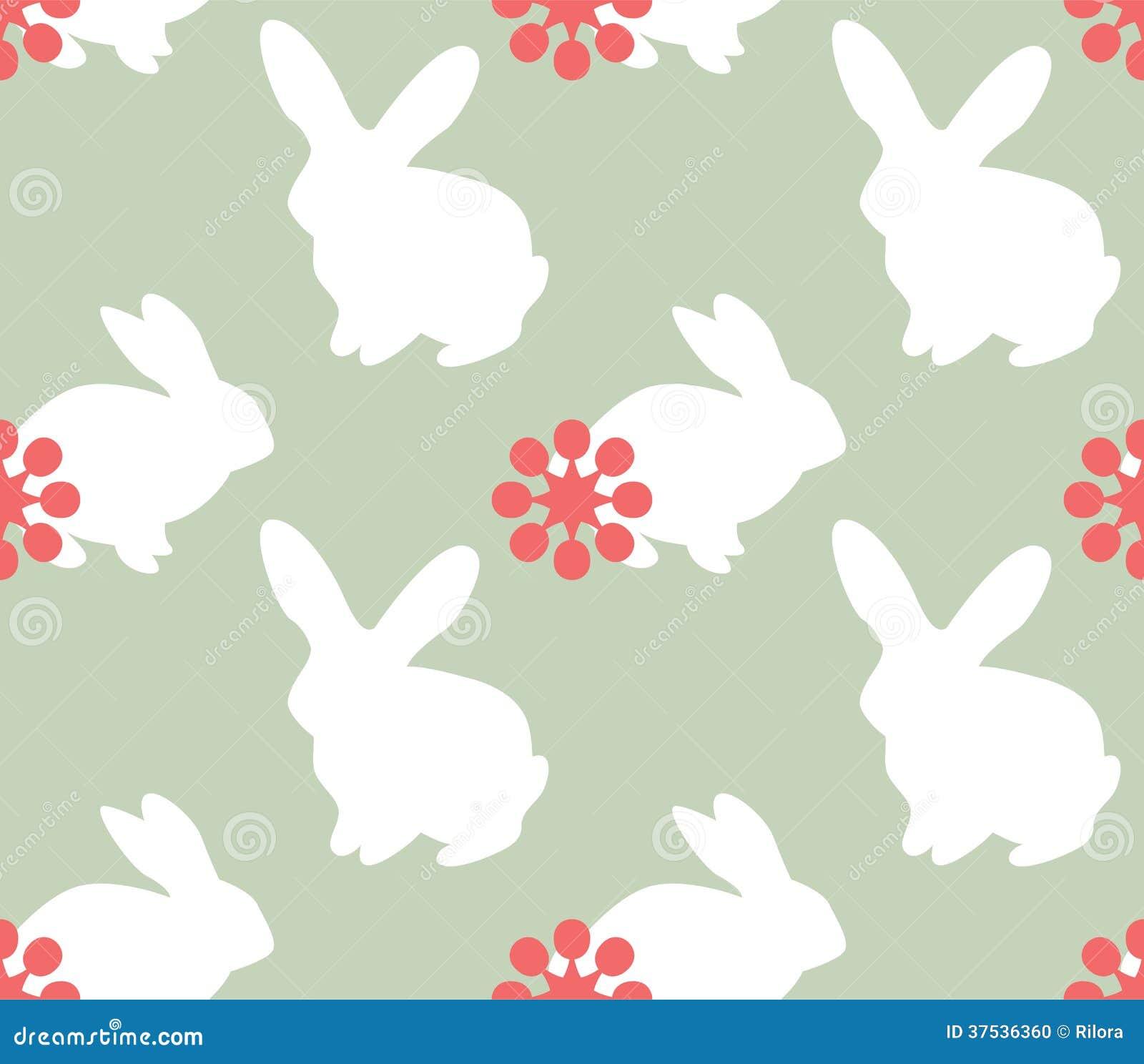 与兔宝宝的逗人喜爱的无缝的样式