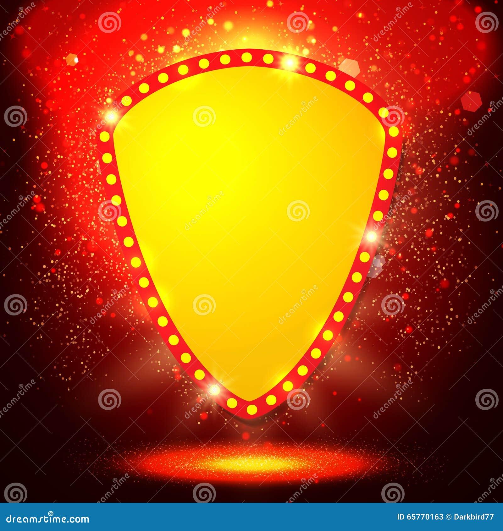 与减速火箭的赌博娱乐场光横幅的光亮的背景 也corel凹道例证向量.