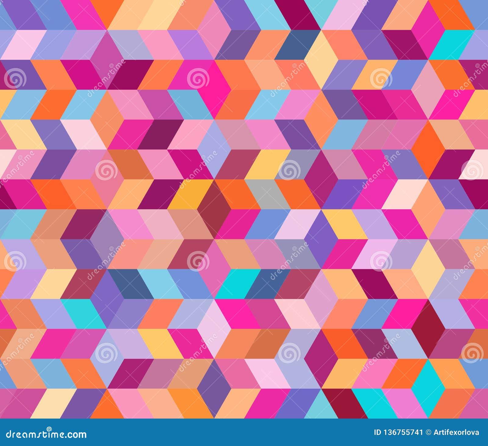 与几何形状的抽象几何样式 装饰元素不尽的背景  10 eps