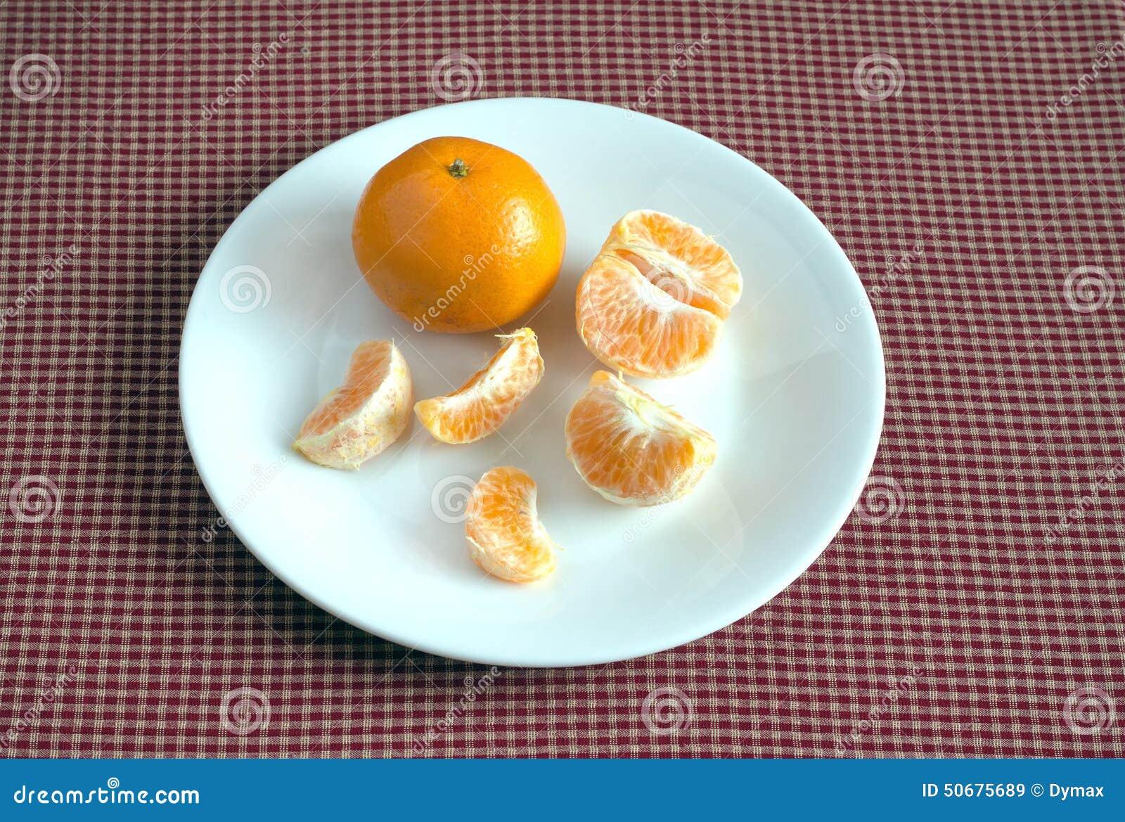 Download 与切片的蜜桔在说谎在方格的桌布的板材 照片特写镜头 库存图片. 图片 包括有 果子, 片式, 详细资料, 季节 - 50675689