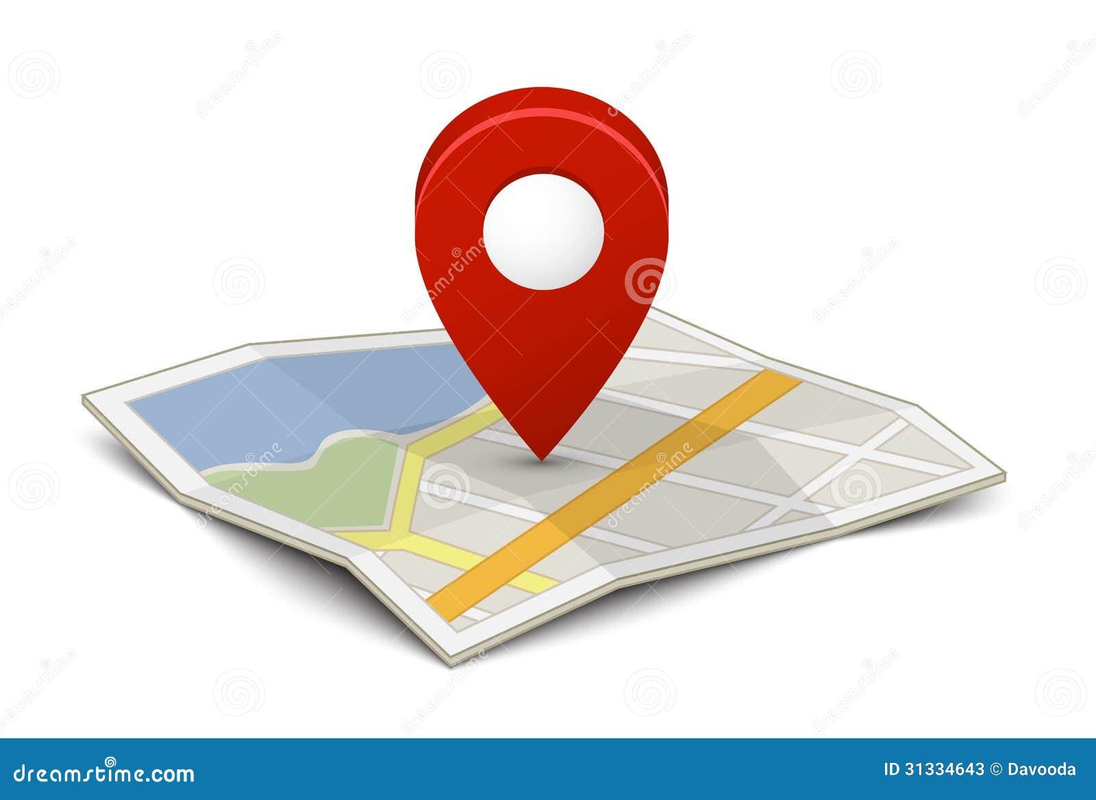 与别针的地图